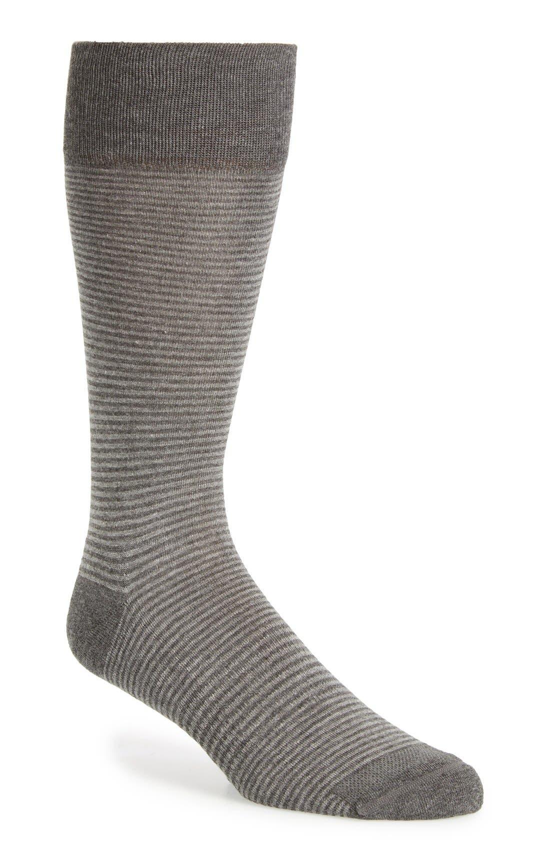 Feeder Stripe Socks,                         Main,                         color, GREY