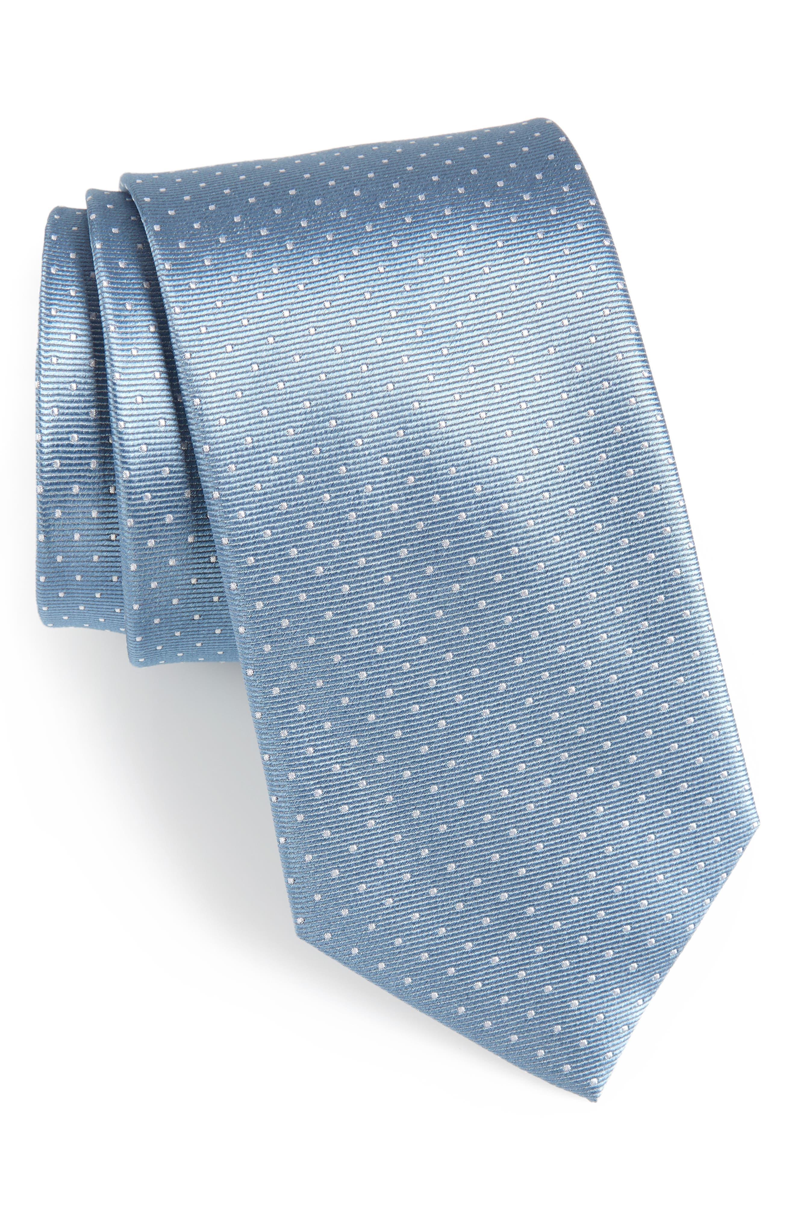 Mini Dots Silk Tie,                             Main thumbnail 1, color,                             469
