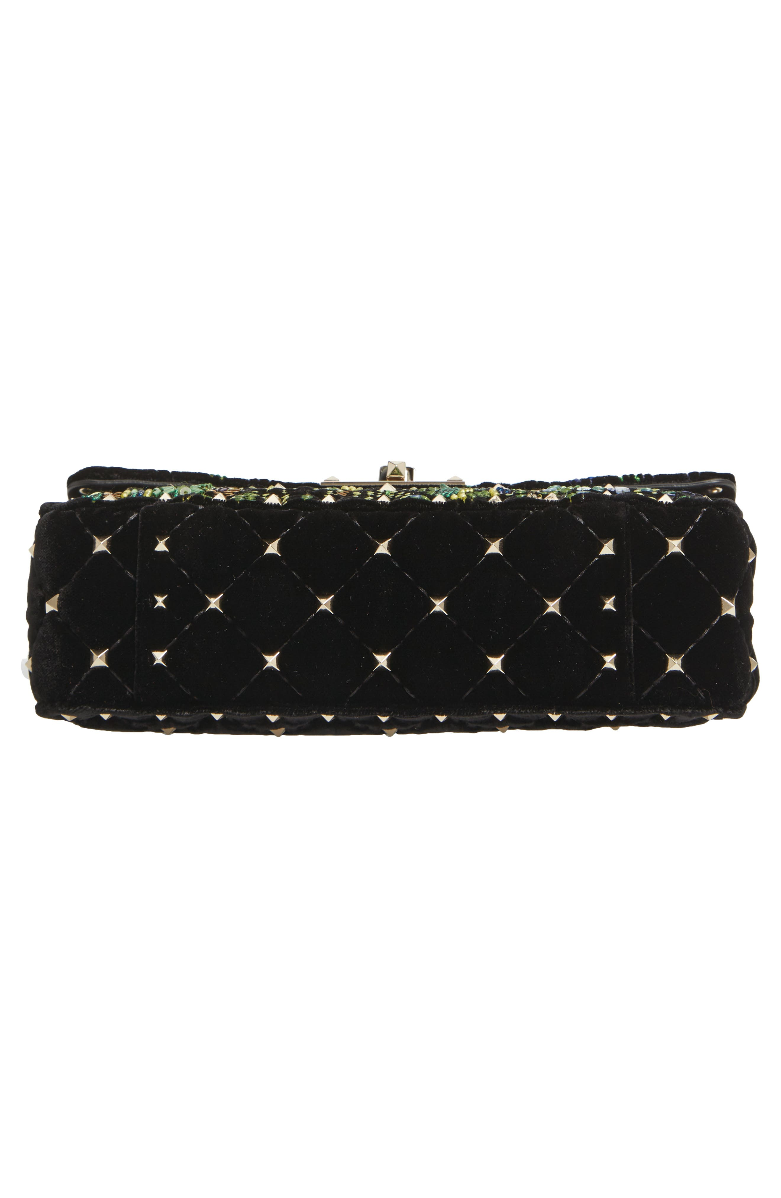 Small Spike.It Floral Sequin Bag,                             Alternate thumbnail 6, color,                             NERO
