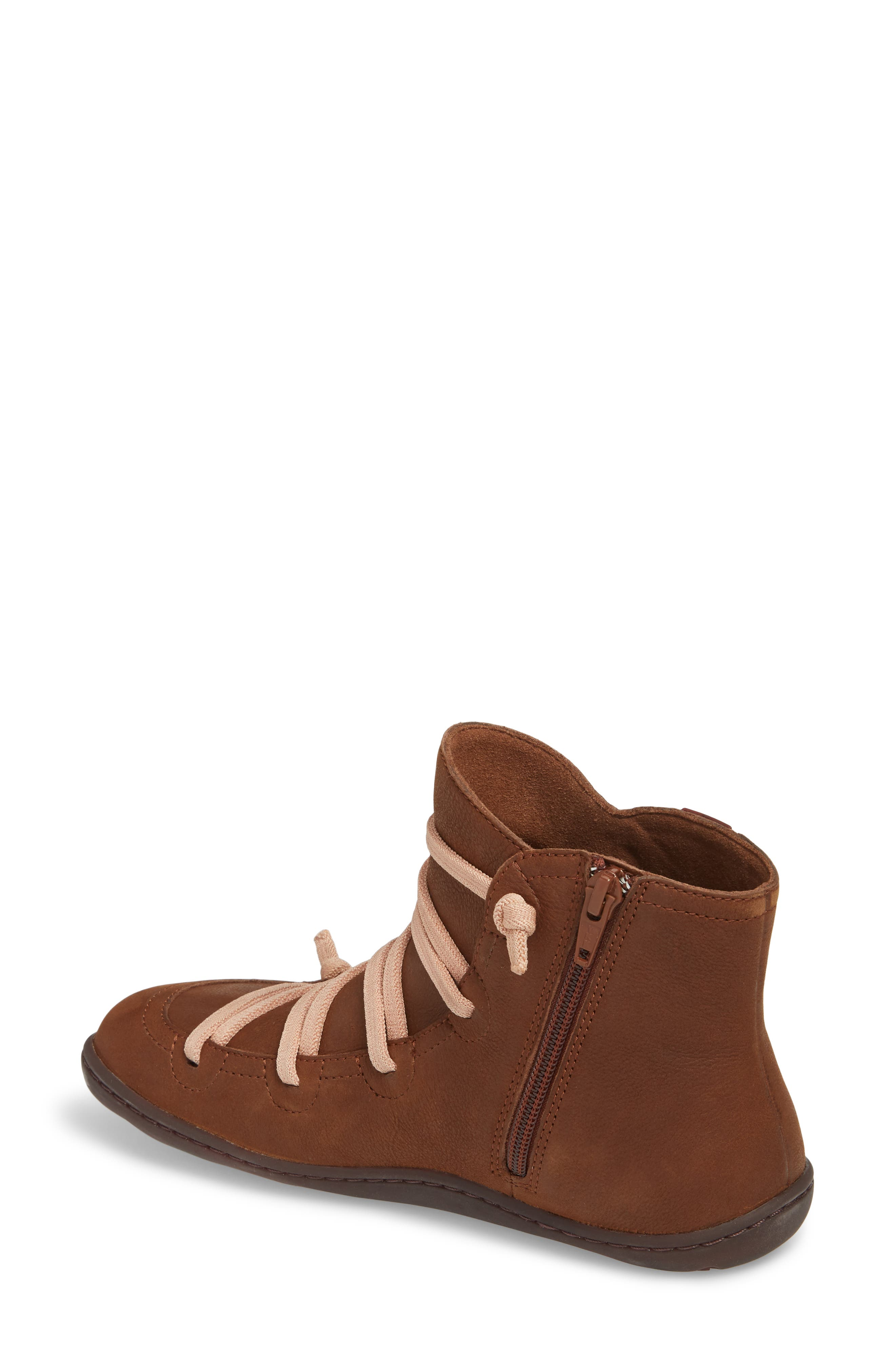 CAMPER,                             Peu Cami Bootie,                             Alternate thumbnail 2, color,                             MEDIUM BROWN LEATHER