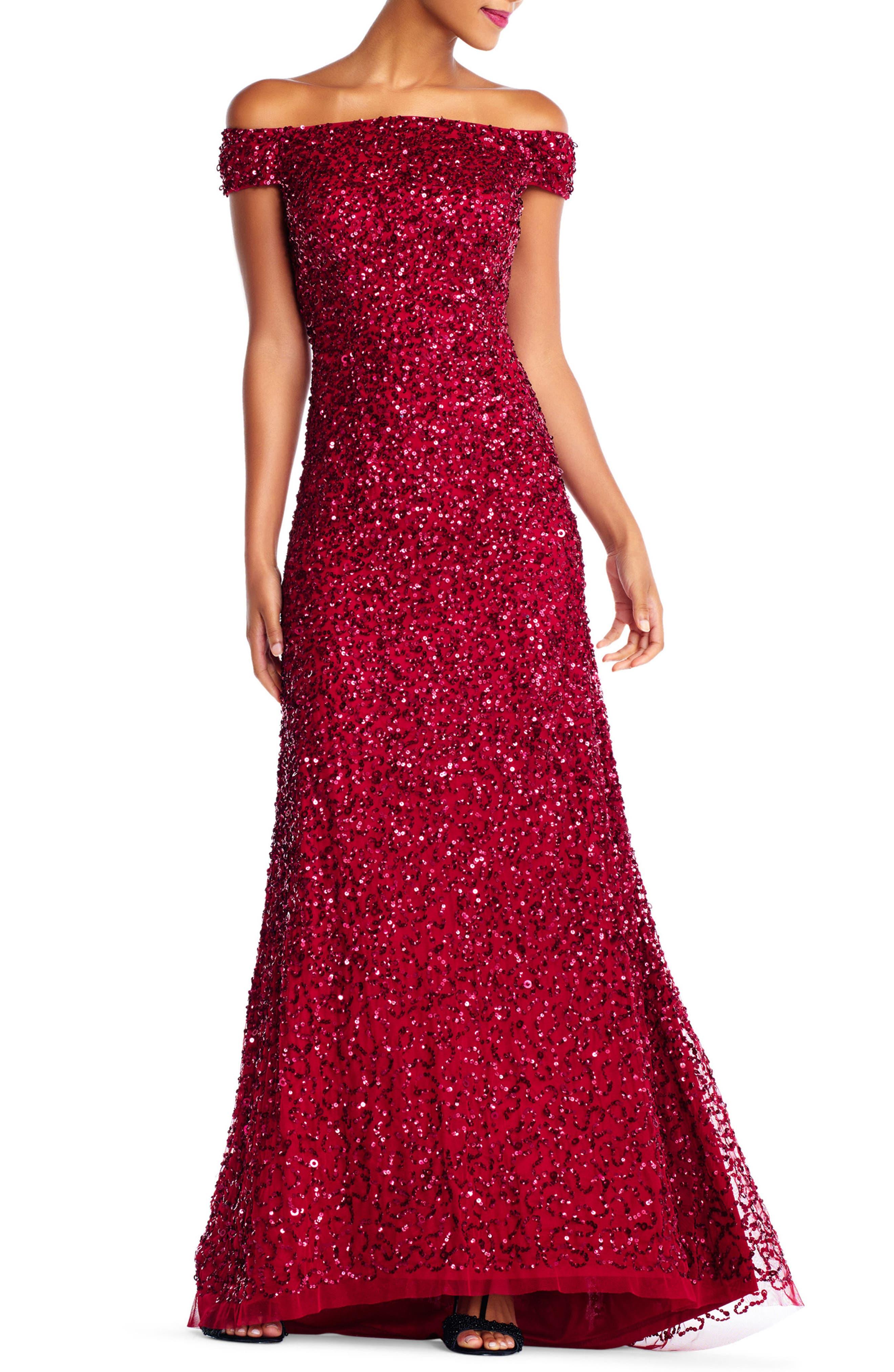 Sequin Mesh Gown,                             Main thumbnail 2, color,