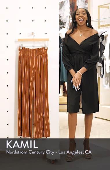 Stripe Knit Wide Leg Pants, sales video thumbnail