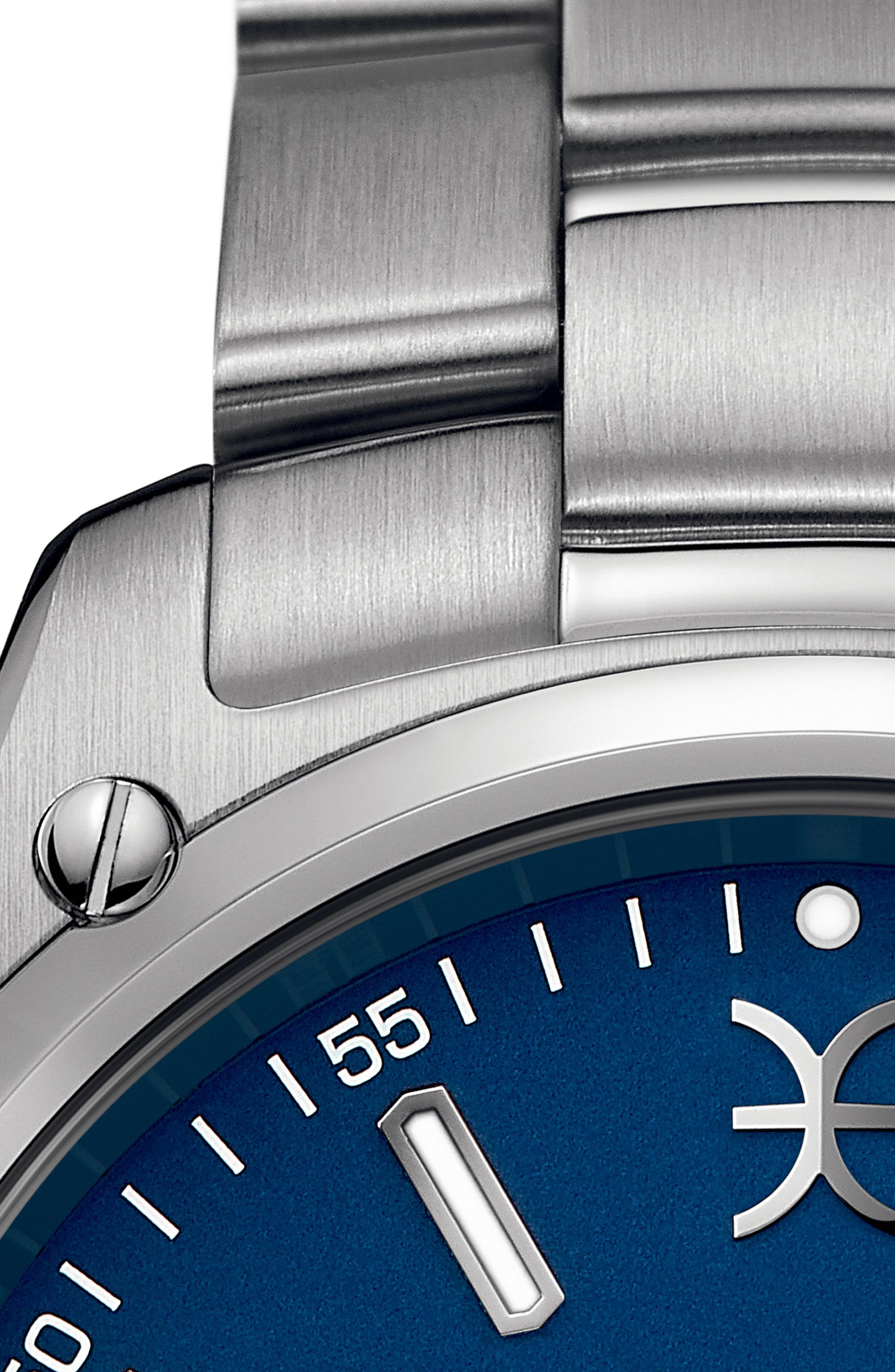 Discovery Bracelet Watch, 41mm,                             Alternate thumbnail 4, color,                             SILVER/ BLUE/ SILVER