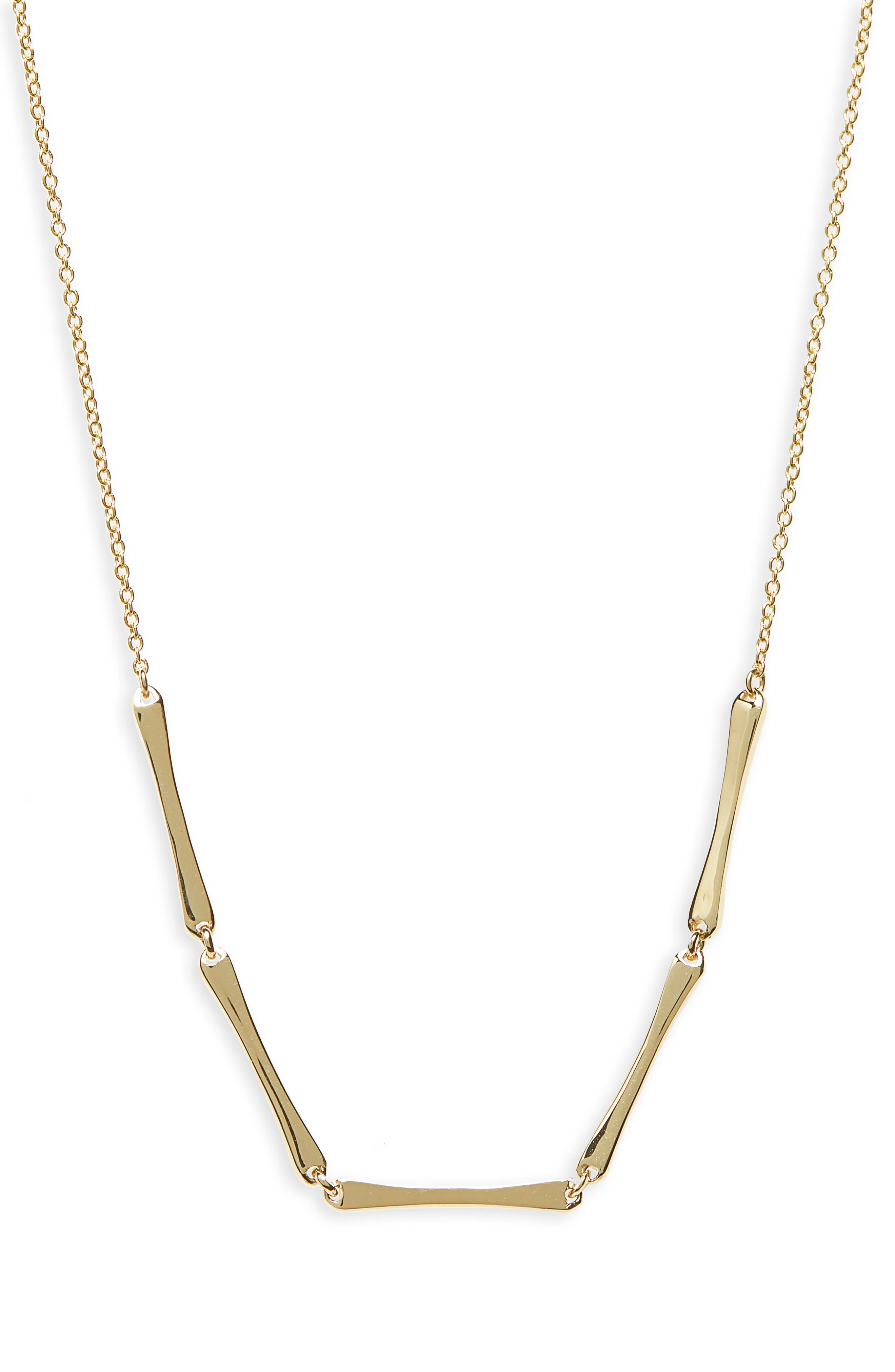 Bar Station Necklace,                         Main,                         color, YELLOW GOLD