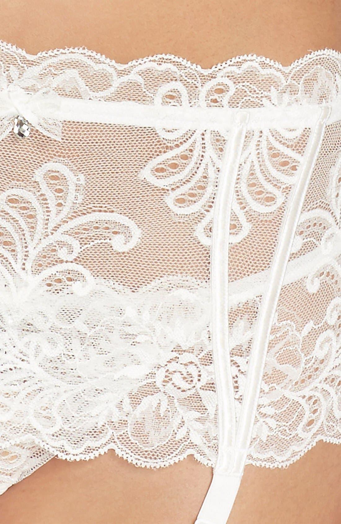 Le Mysère 'Sophia' Lace Garter Belt,                             Alternate thumbnail 15, color,