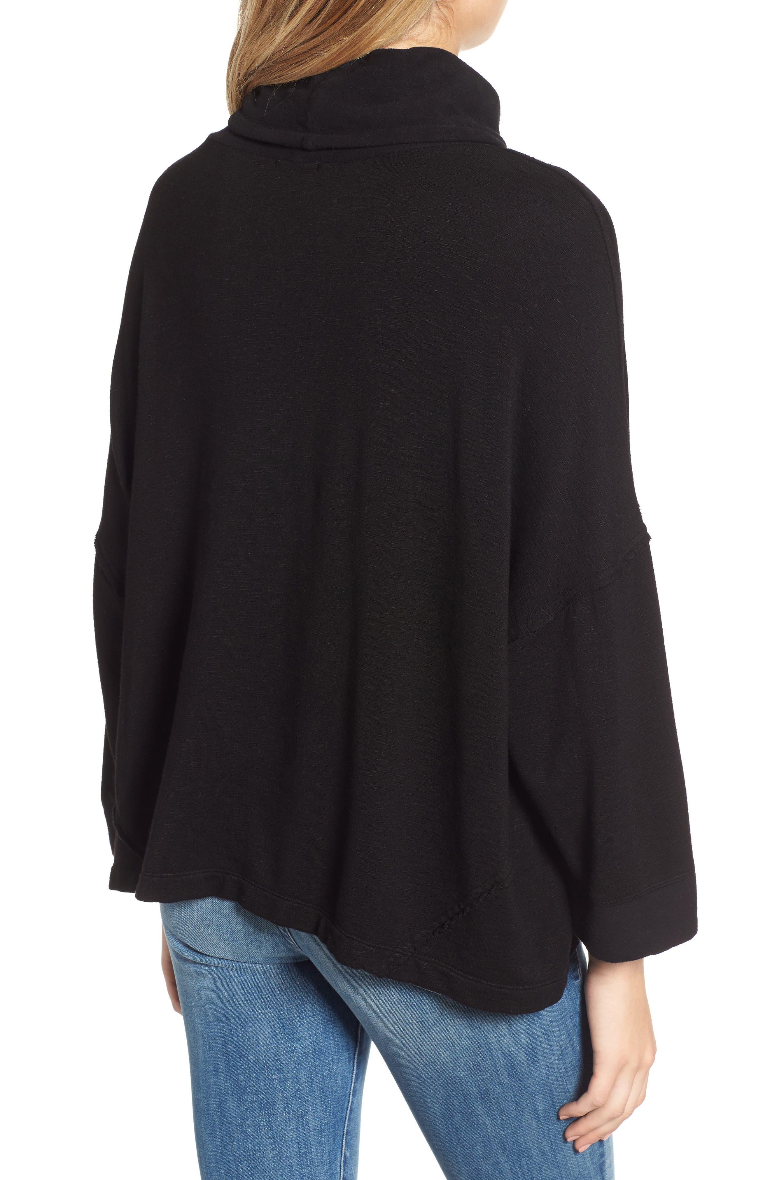 Cowl Neck Sweatshirt,                             Alternate thumbnail 2, color,                             001