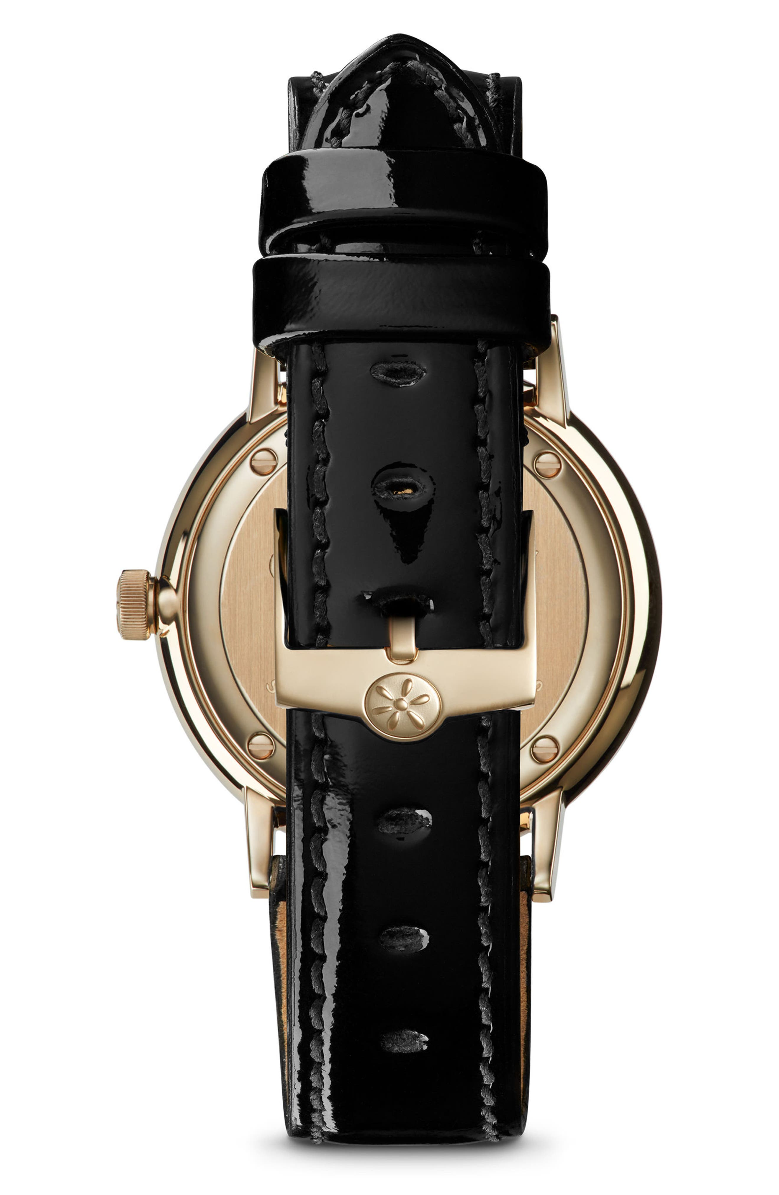 GOMELSKY,                             The Agnes Varis Solar System Leather Strap Watch, 32mm,                             Alternate thumbnail 2, color,                             001