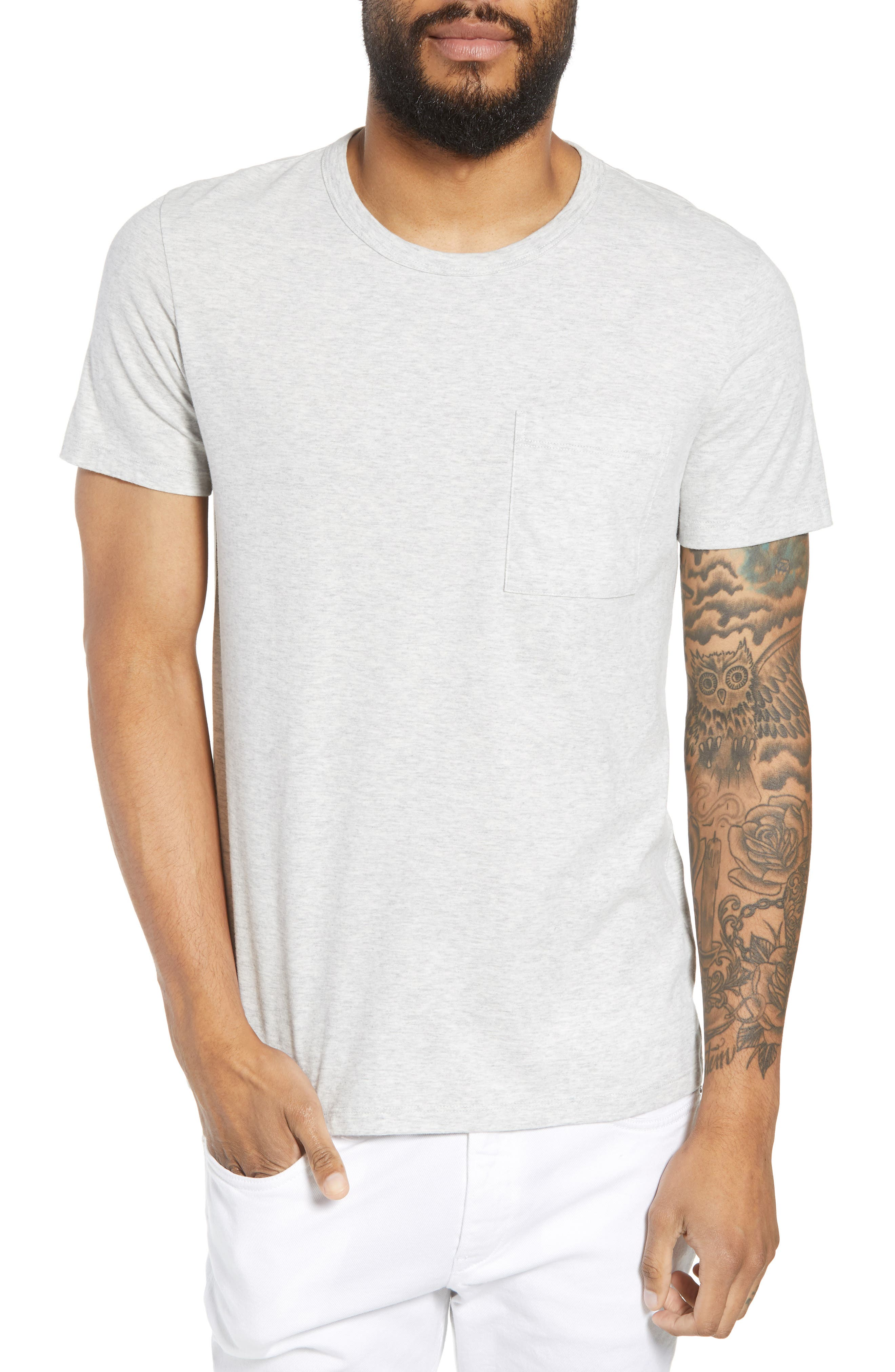 THEORY Essential Pocket T-Shirt, Main, color, 020