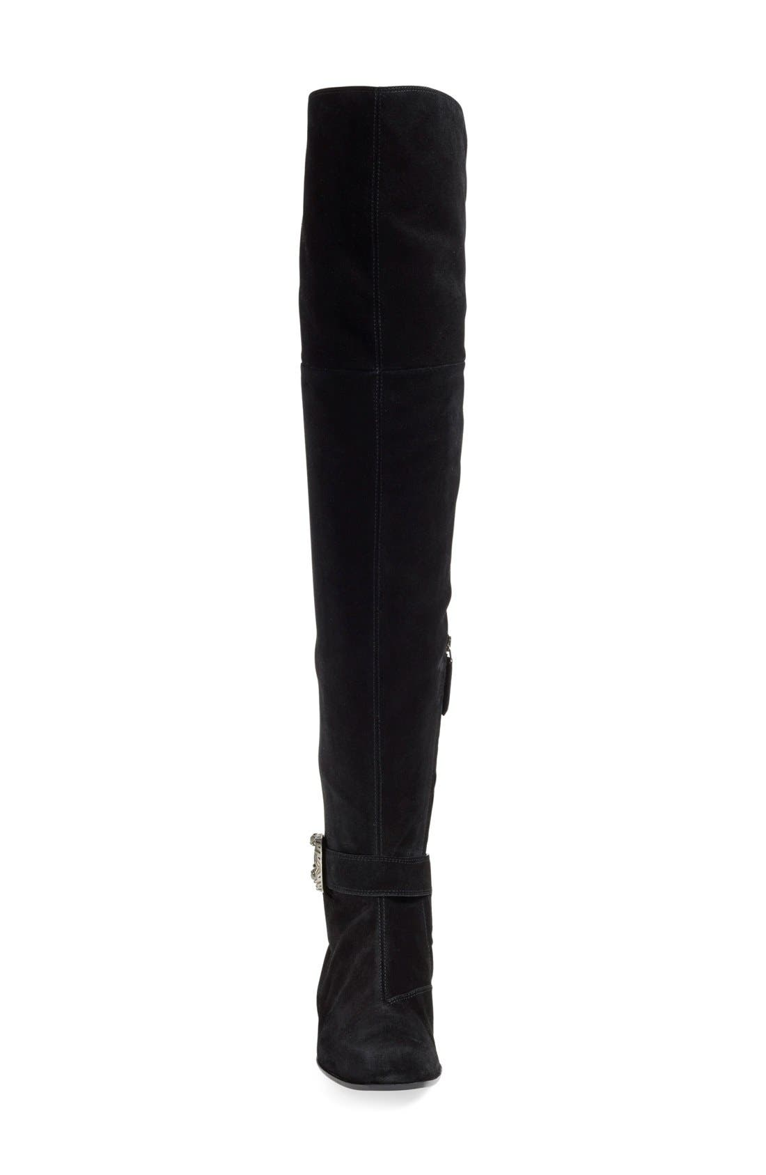 'Dionysus' Over the Knee Boot,                             Alternate thumbnail 4, color,                             001