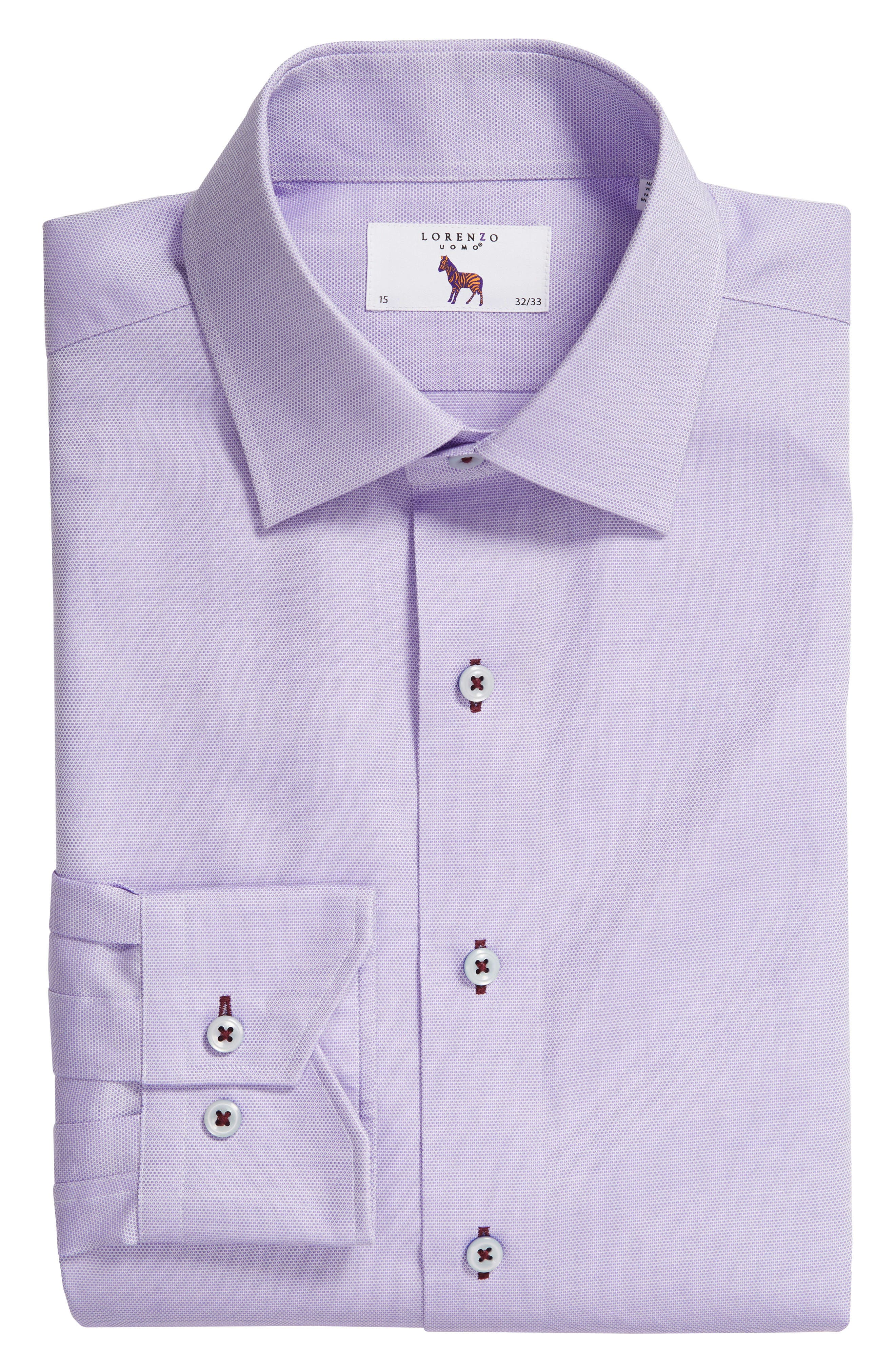 Trim Fit Solid Dress Shirt,                             Alternate thumbnail 5, color,                             530