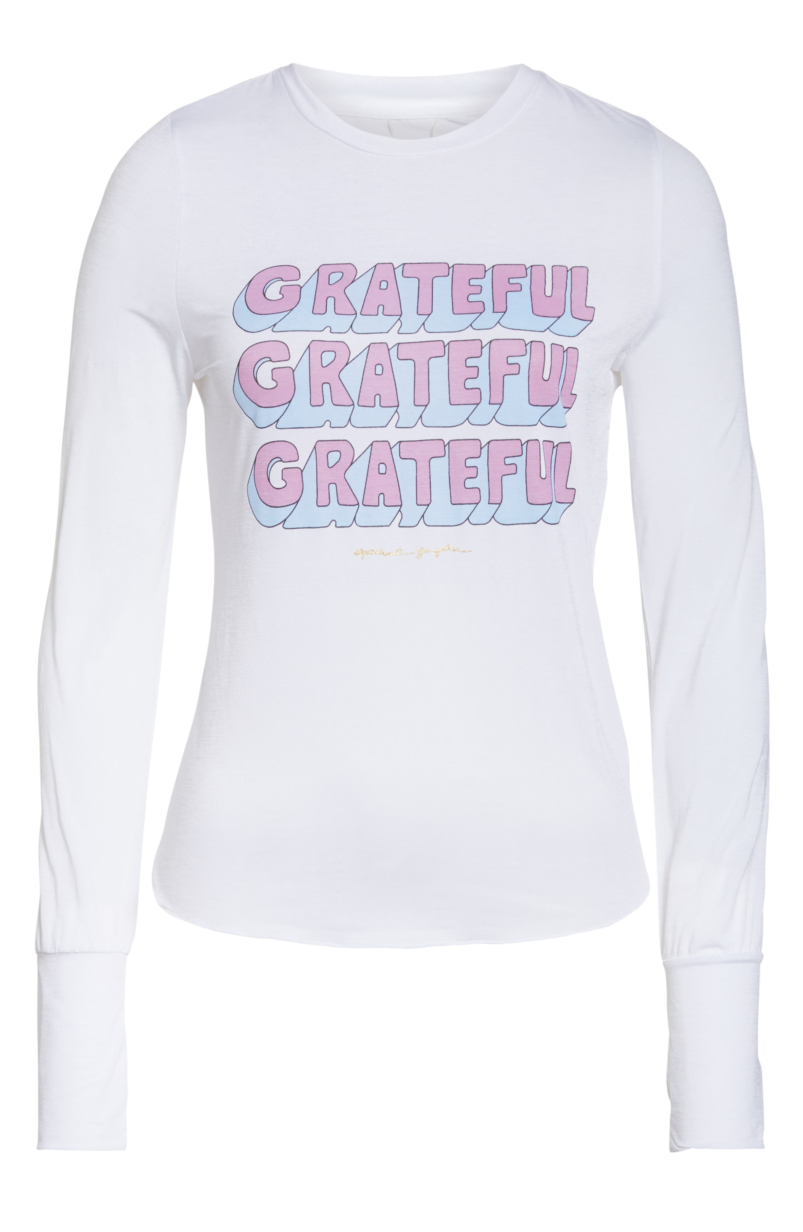 Graphic Long Sleeve Tee,                             Alternate thumbnail 7, color,                             WHITE