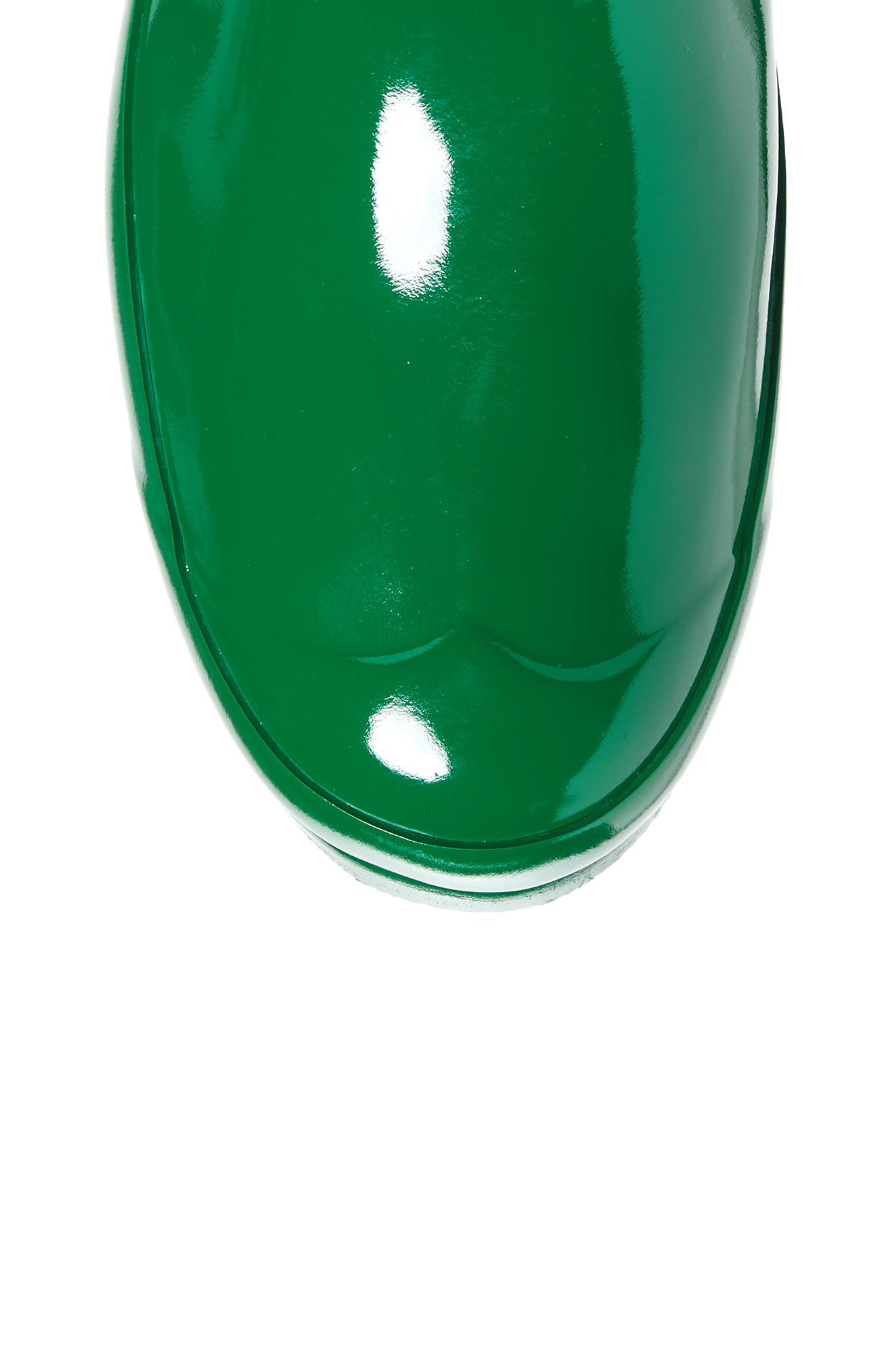 Adjustable Back Gloss Waterproof Rain Boot,                             Alternate thumbnail 5, color,                             360
