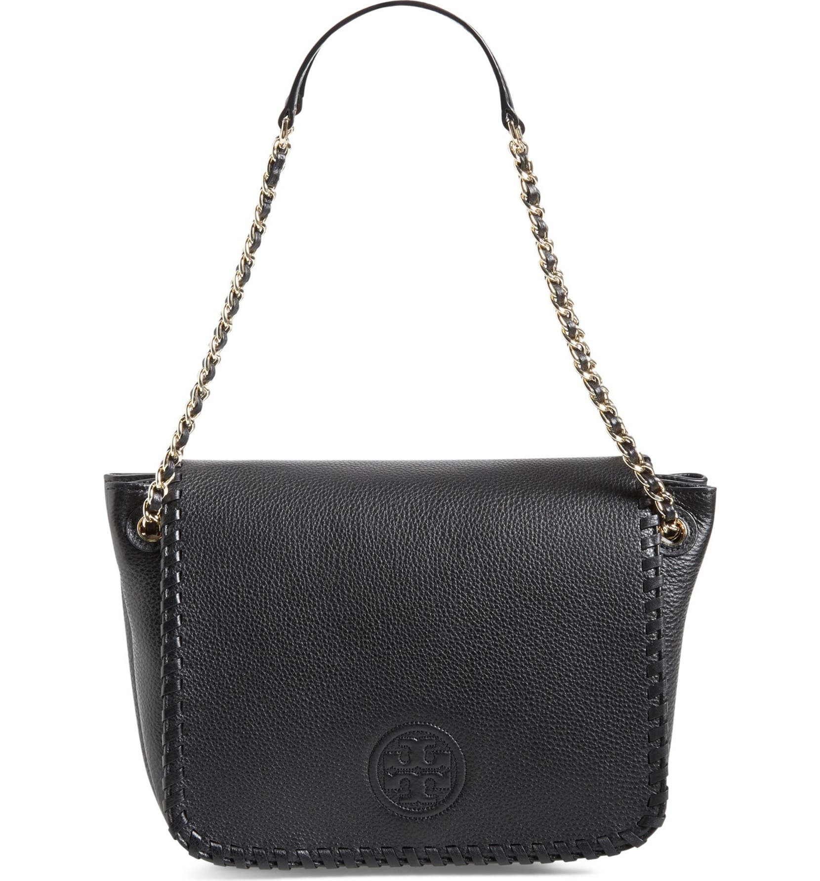 c8ef51cac83 Tory Burch  Small Marion  Leather Flap Shoulder Bag