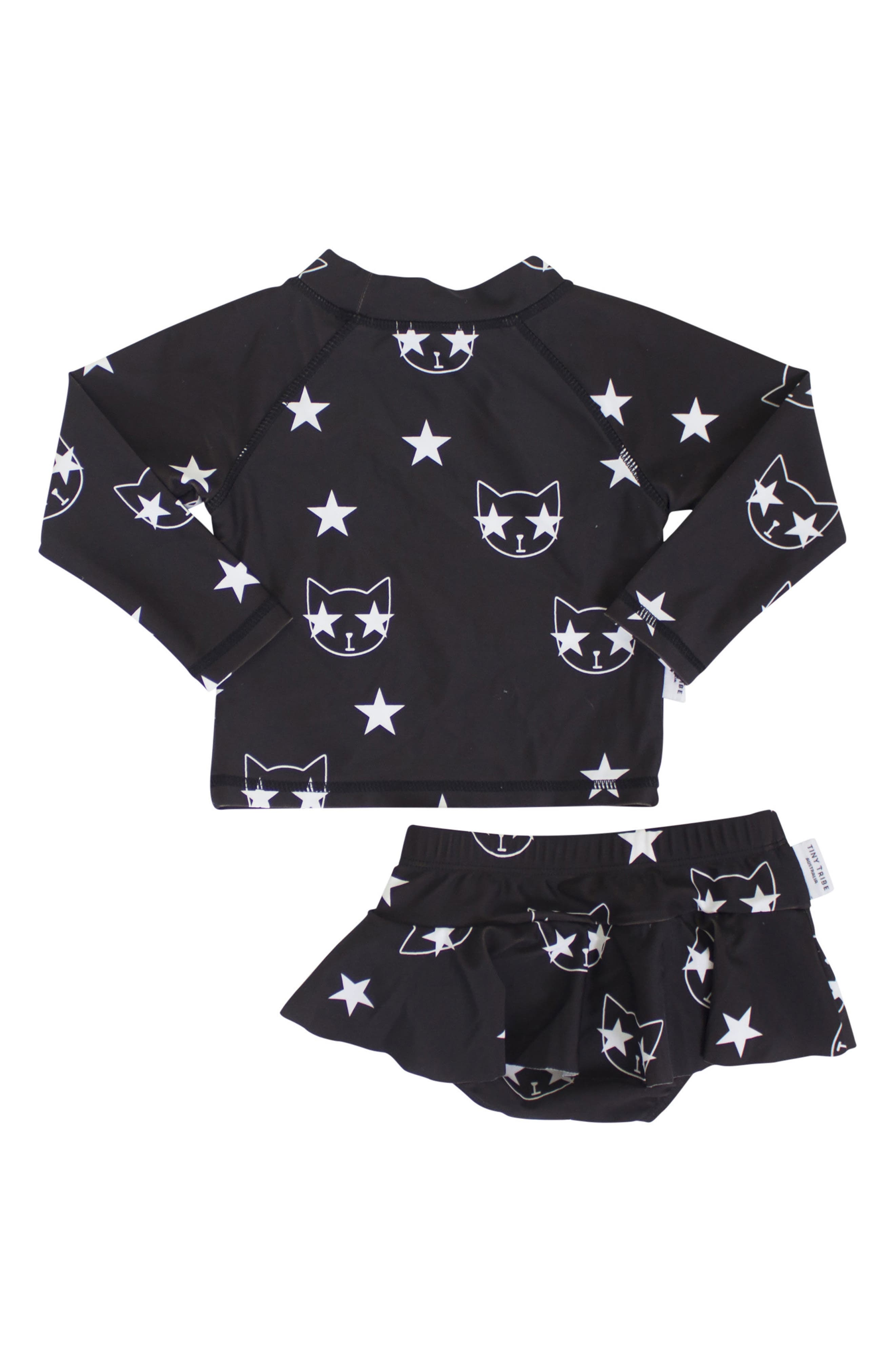 Star Cat Two-Piece Swimsuit,                             Alternate thumbnail 2, color,                             001