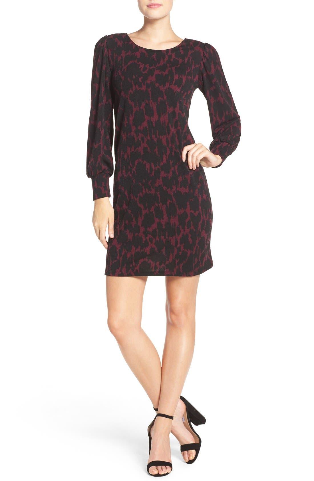 LEOTA,                             'Kate' Static Print Jersey Shift Dress,                             Alternate thumbnail 2, color,                             006
