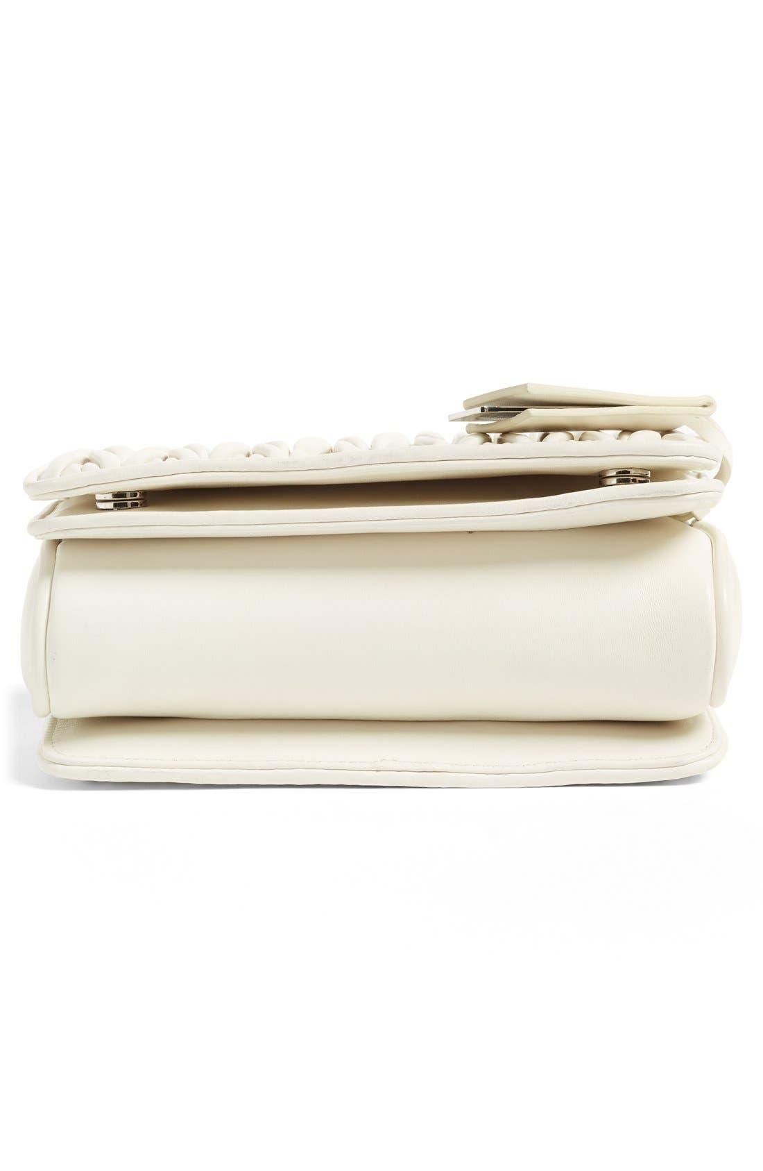 Small Matelassé Leather Shoulder Bag,                             Alternate thumbnail 17, color,