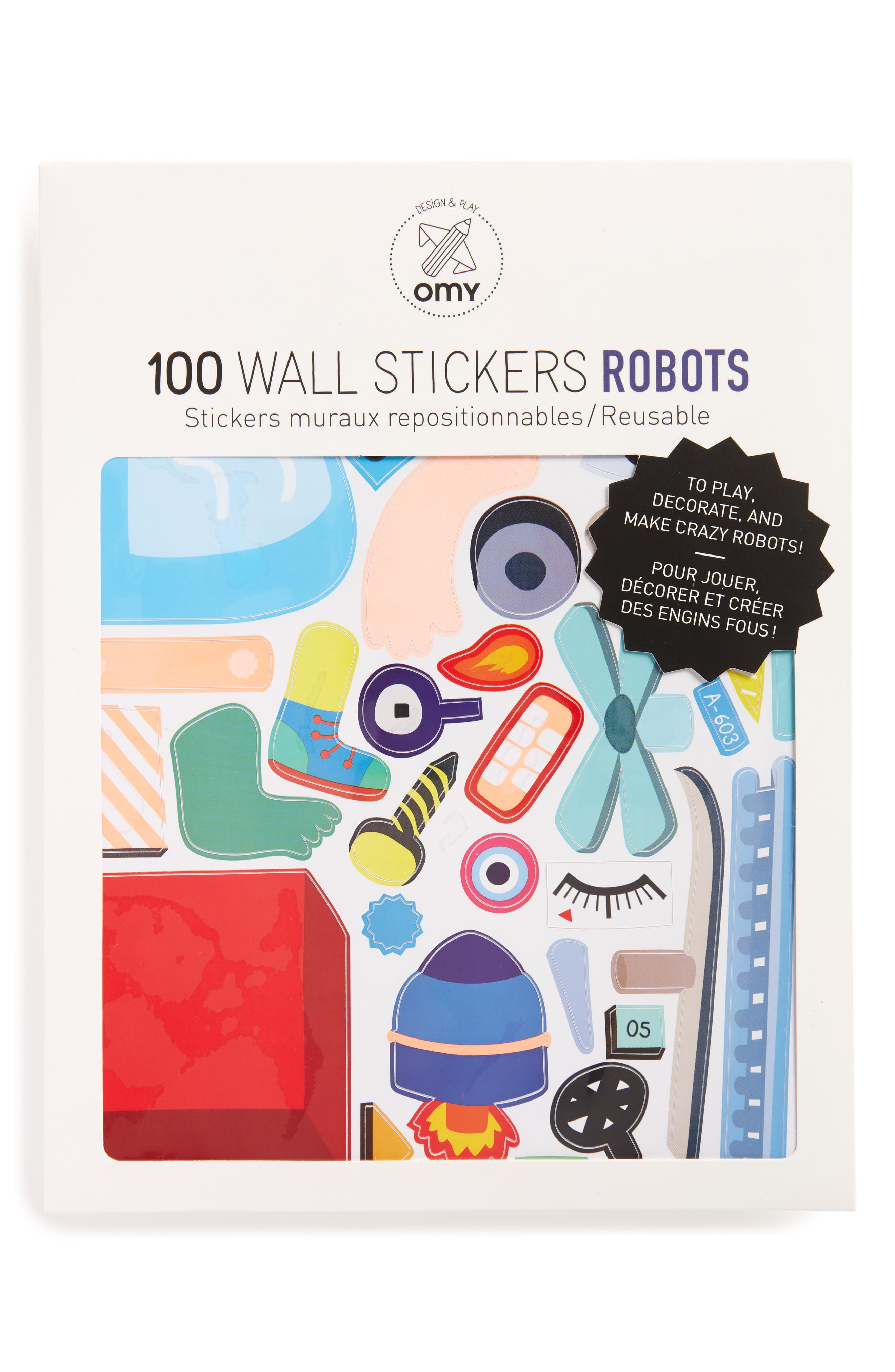 Robot Wall Stickers,                         Main,                         color, 100
