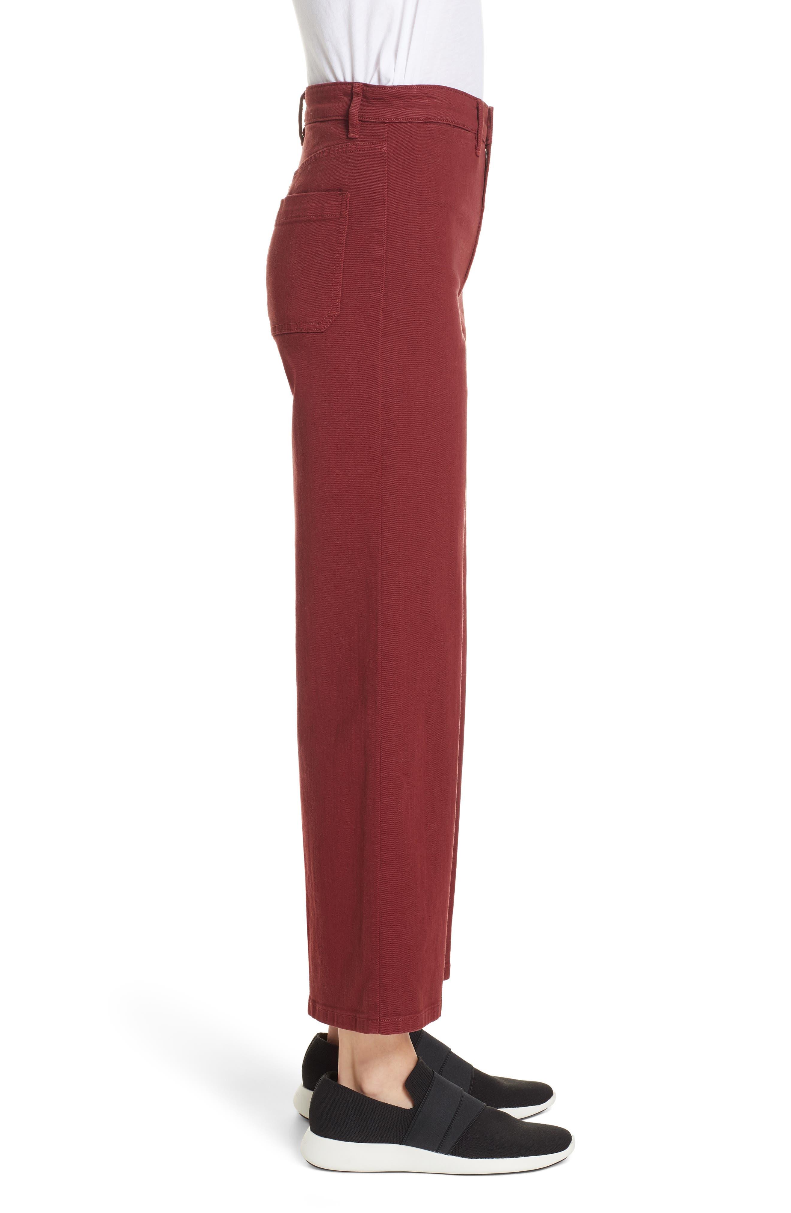 Colored Denim Crop Pants,                             Alternate thumbnail 3, color,                             631