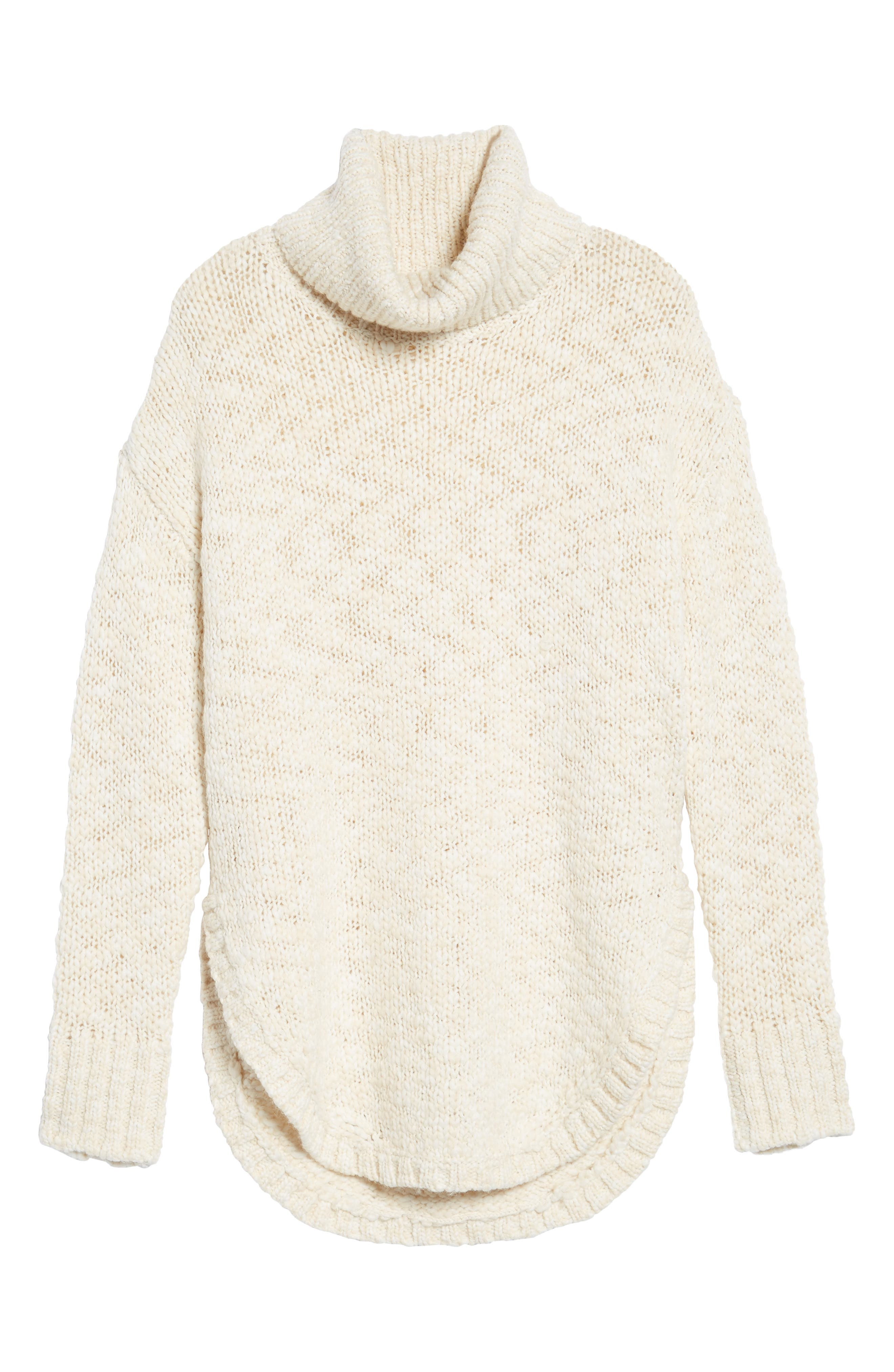 Treasure&Bond Turtleneck Sweater,                             Alternate thumbnail 6, color,                             BEIGE BEACH COMBO