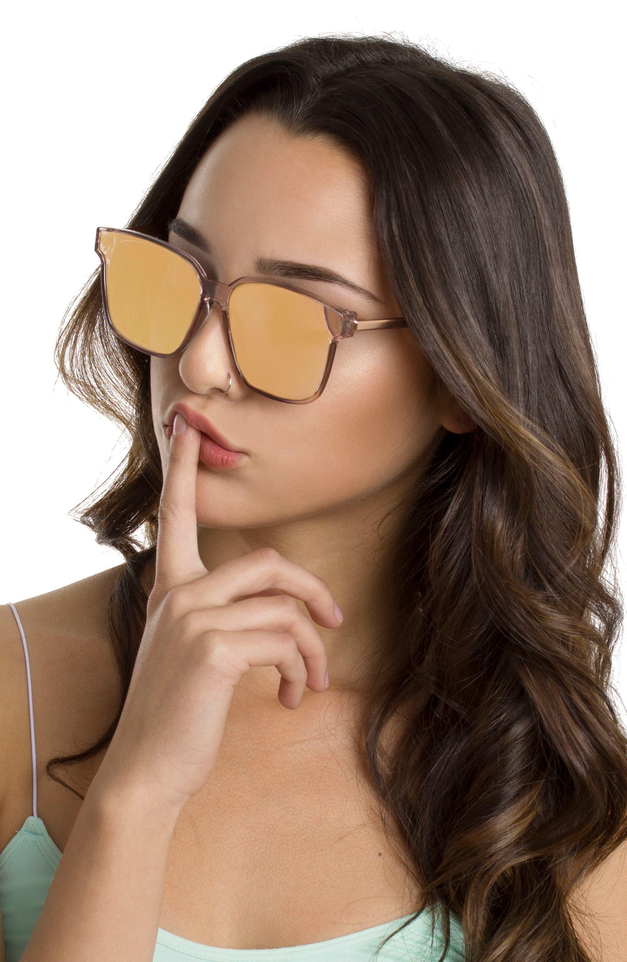 Wall 62mm Square Mirror Lens Sunglasses,                             Alternate thumbnail 11, color,