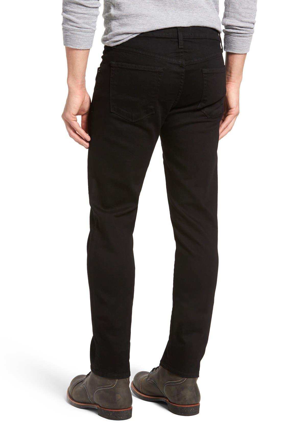 Tyler Slim Fit Jeans,                             Alternate thumbnail 2, color,                             TRIVOR BLACK