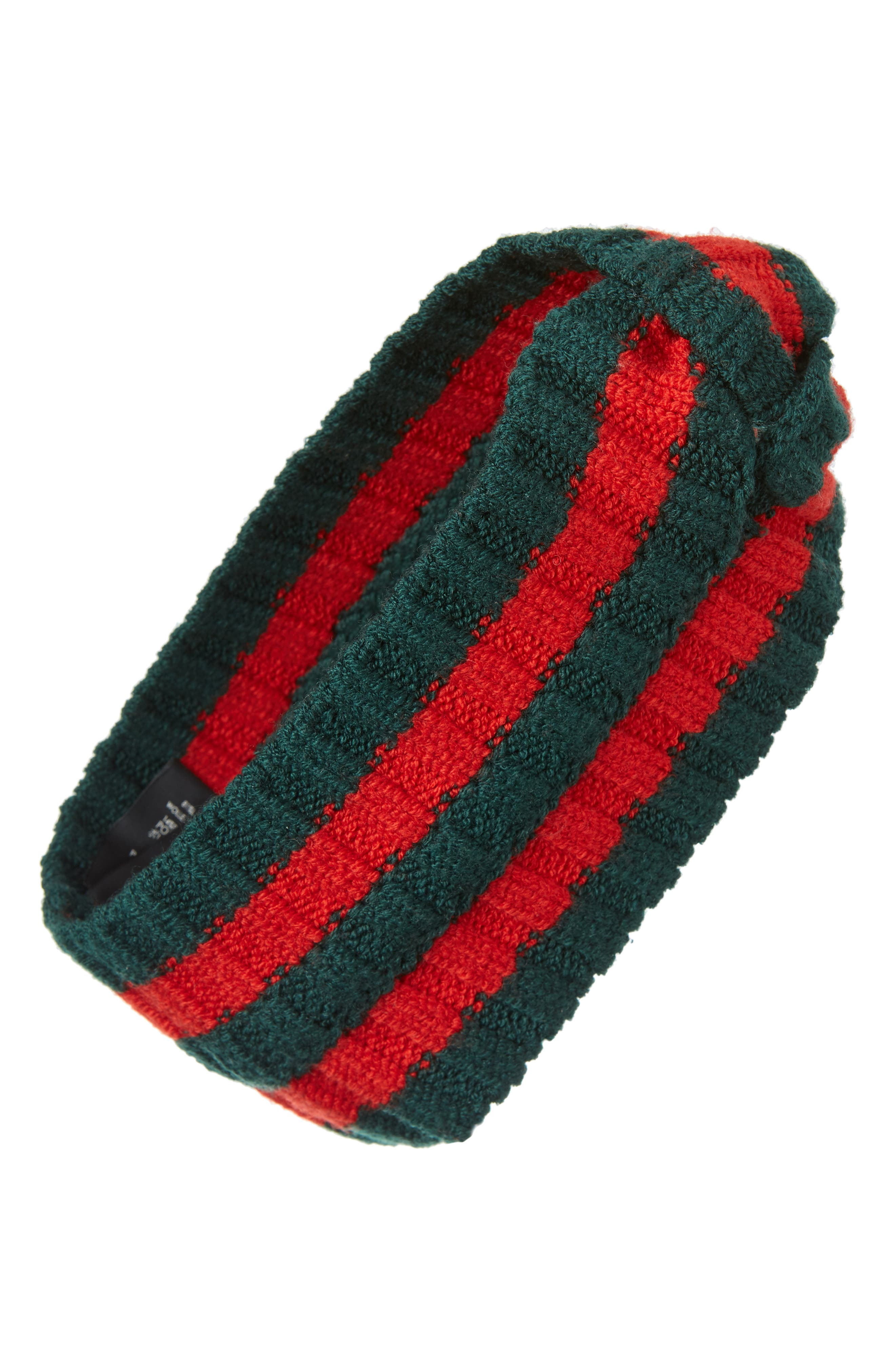 Stripe Knit Head Wrap, Main, color, 300