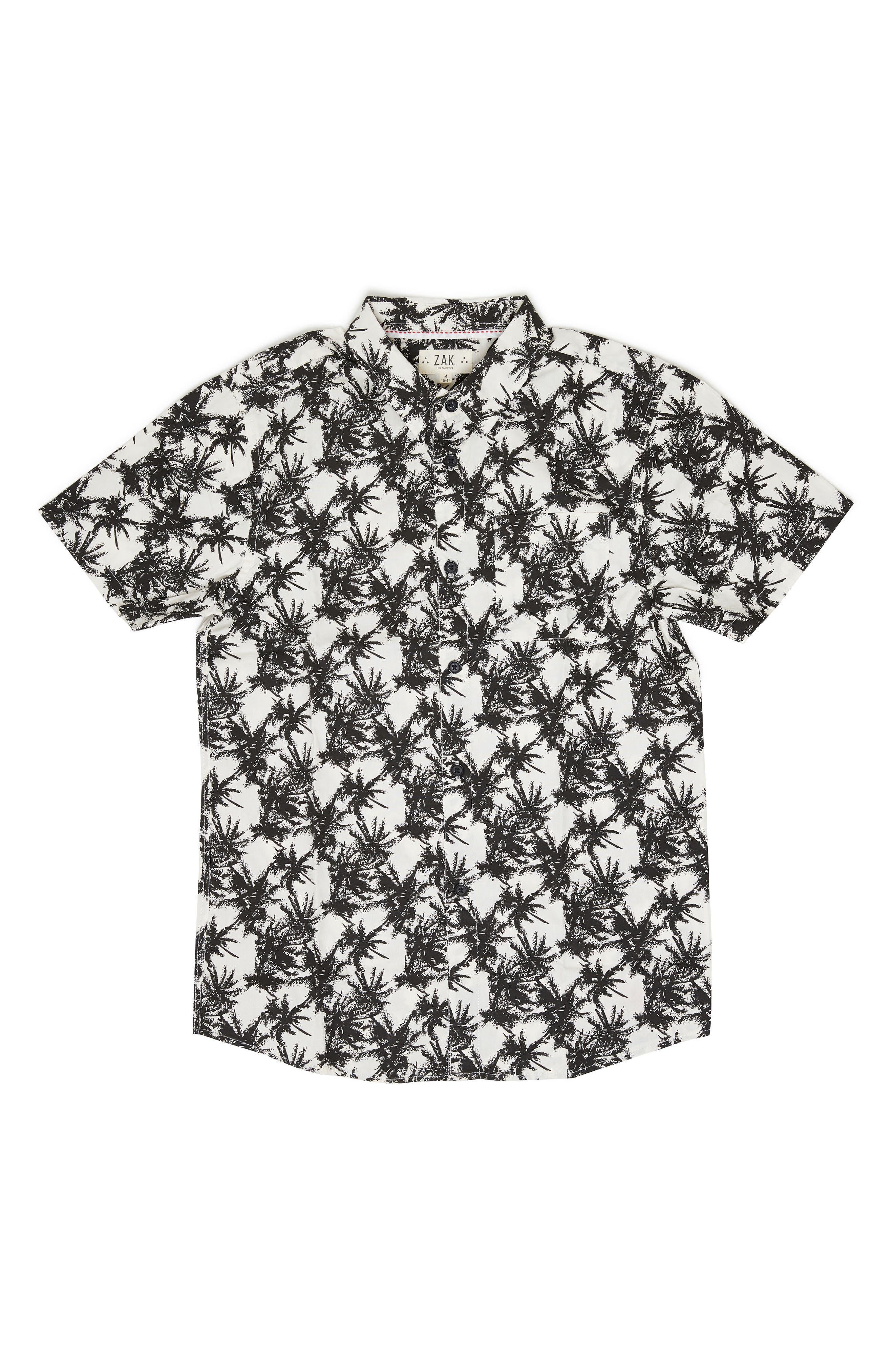 Vintage Palm Tree Woven Shirt,                         Main,                         color, 100
