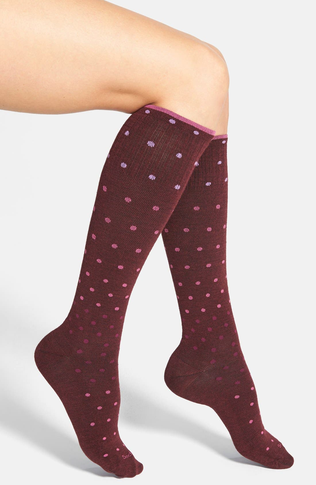 'Goodhew - On the Spot' Compression Knee Socks,                             Main thumbnail 4, color,