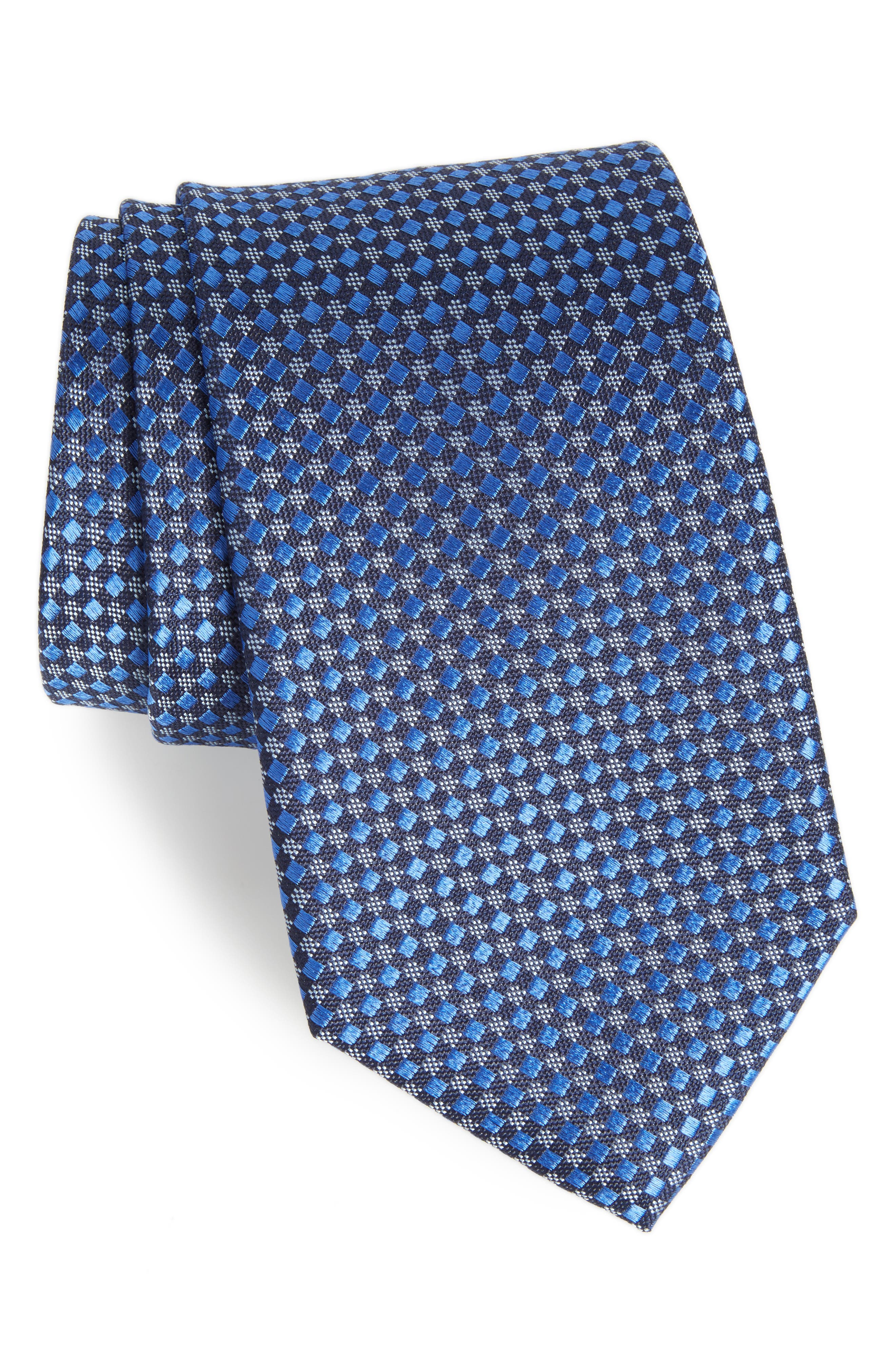Geometric Silk Tie,                         Main,                         color, 400