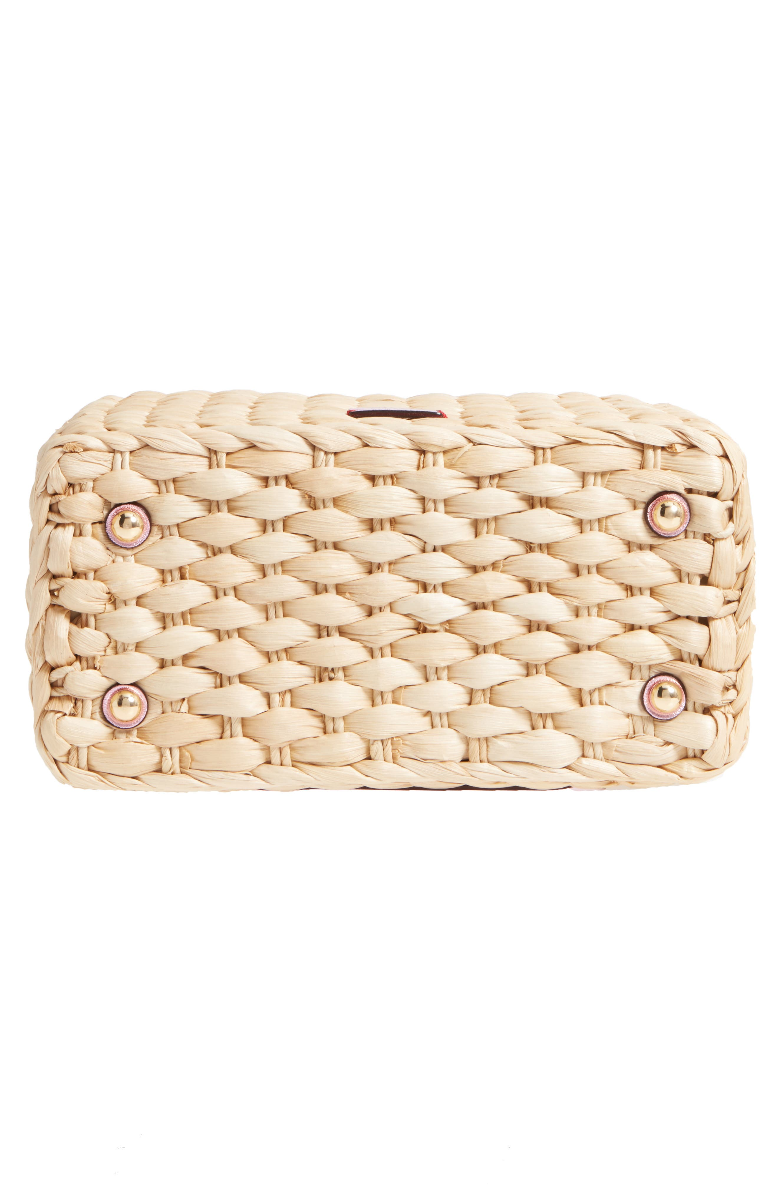 Small Woven Straw Tote,                             Alternate thumbnail 6, color,                             670
