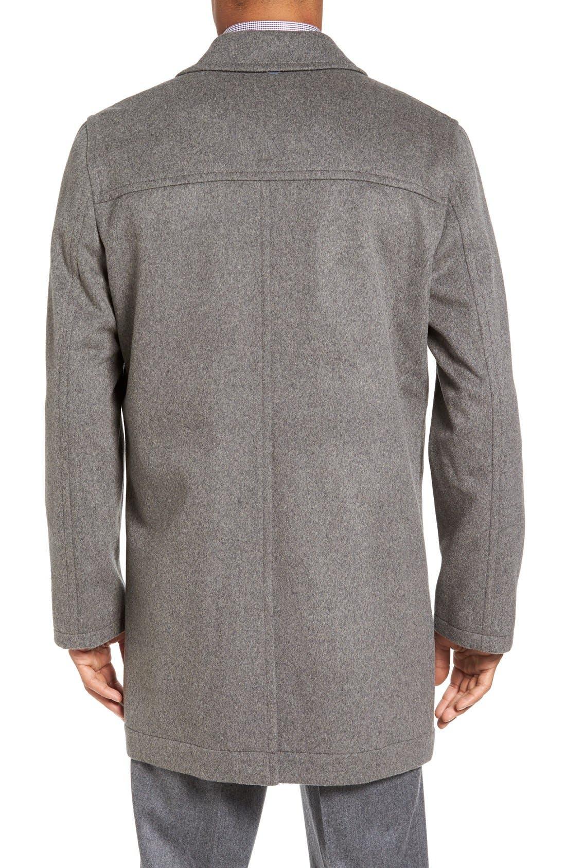 Douglas Modern Fit Wool & Cashmere Overcoat,                             Alternate thumbnail 5, color,