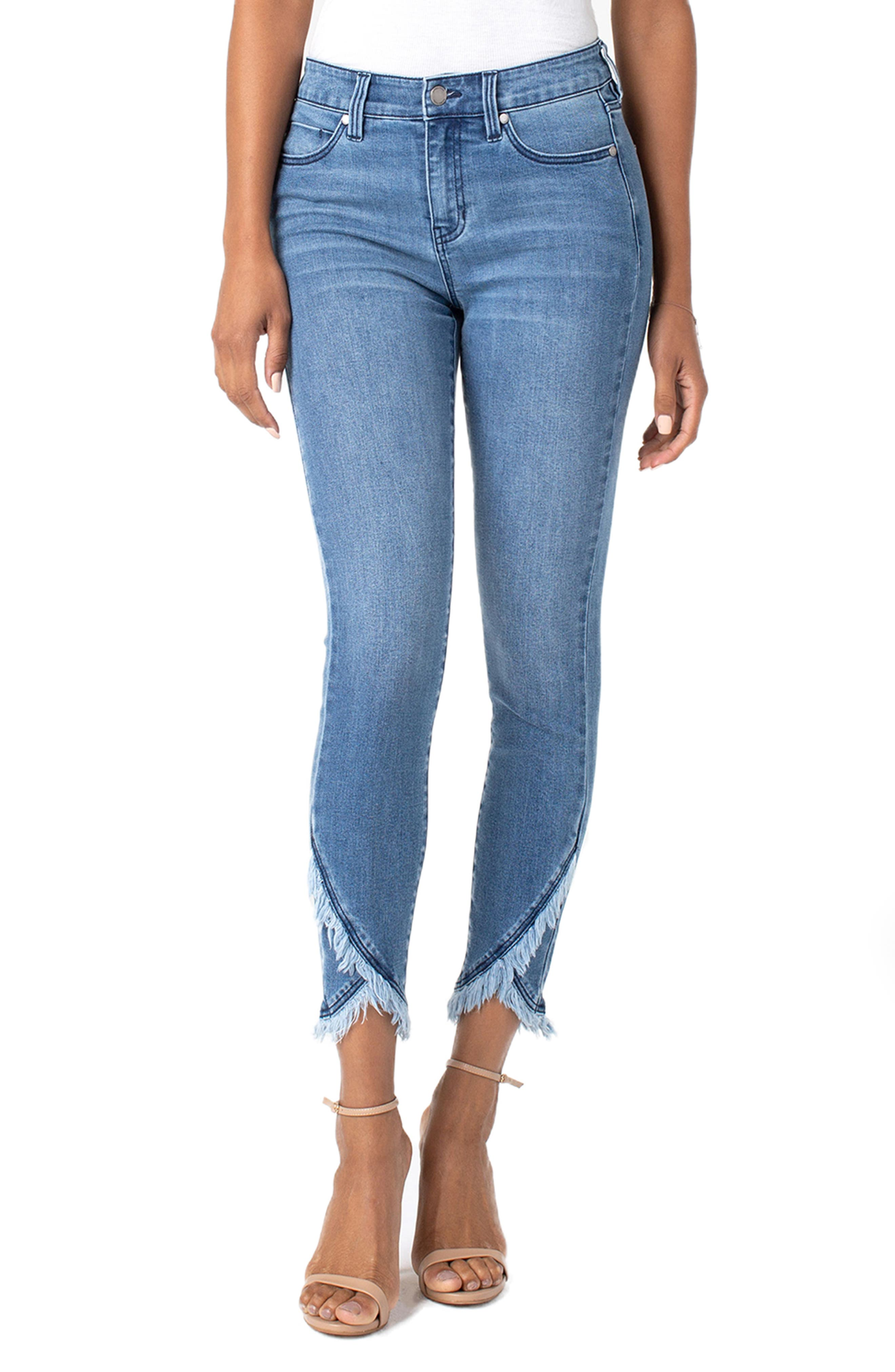 Liverpool Jeans ABBY SCALLOP HEM CROP SKINNY JEANS