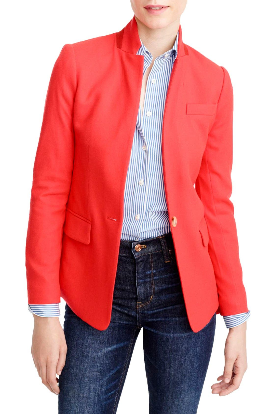 Regent Stand Collar Blazer,                             Main thumbnail 4, color,