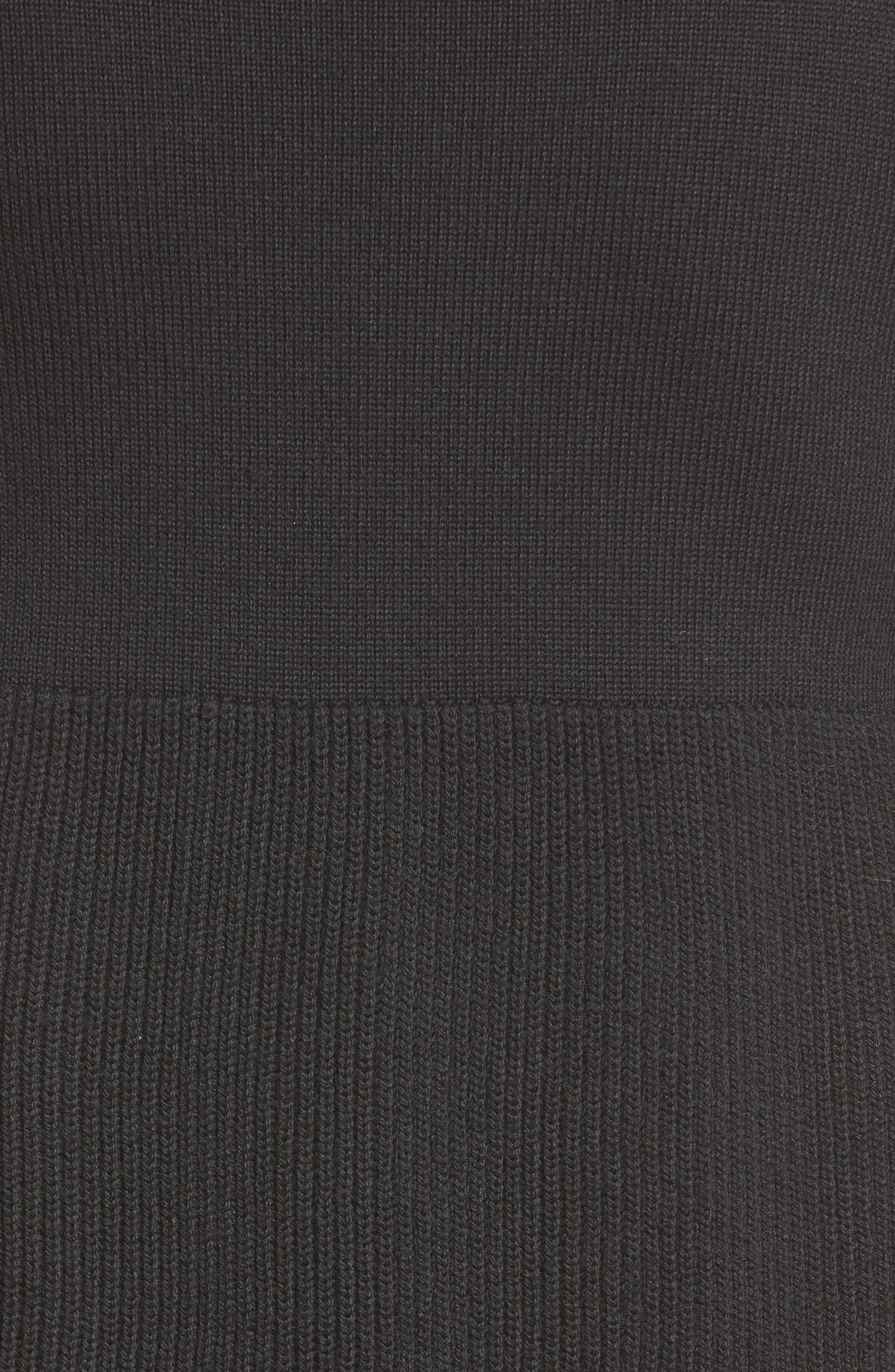 Drawstring Hem Tricot Knit Dress,                             Alternate thumbnail 5, color,