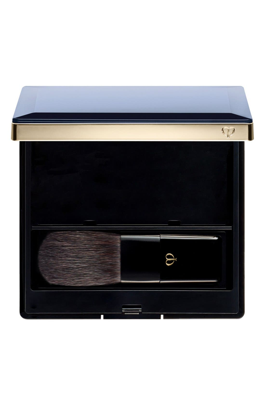 Cheek Color Duo Case & Brush,                         Main,                         color, BLACK