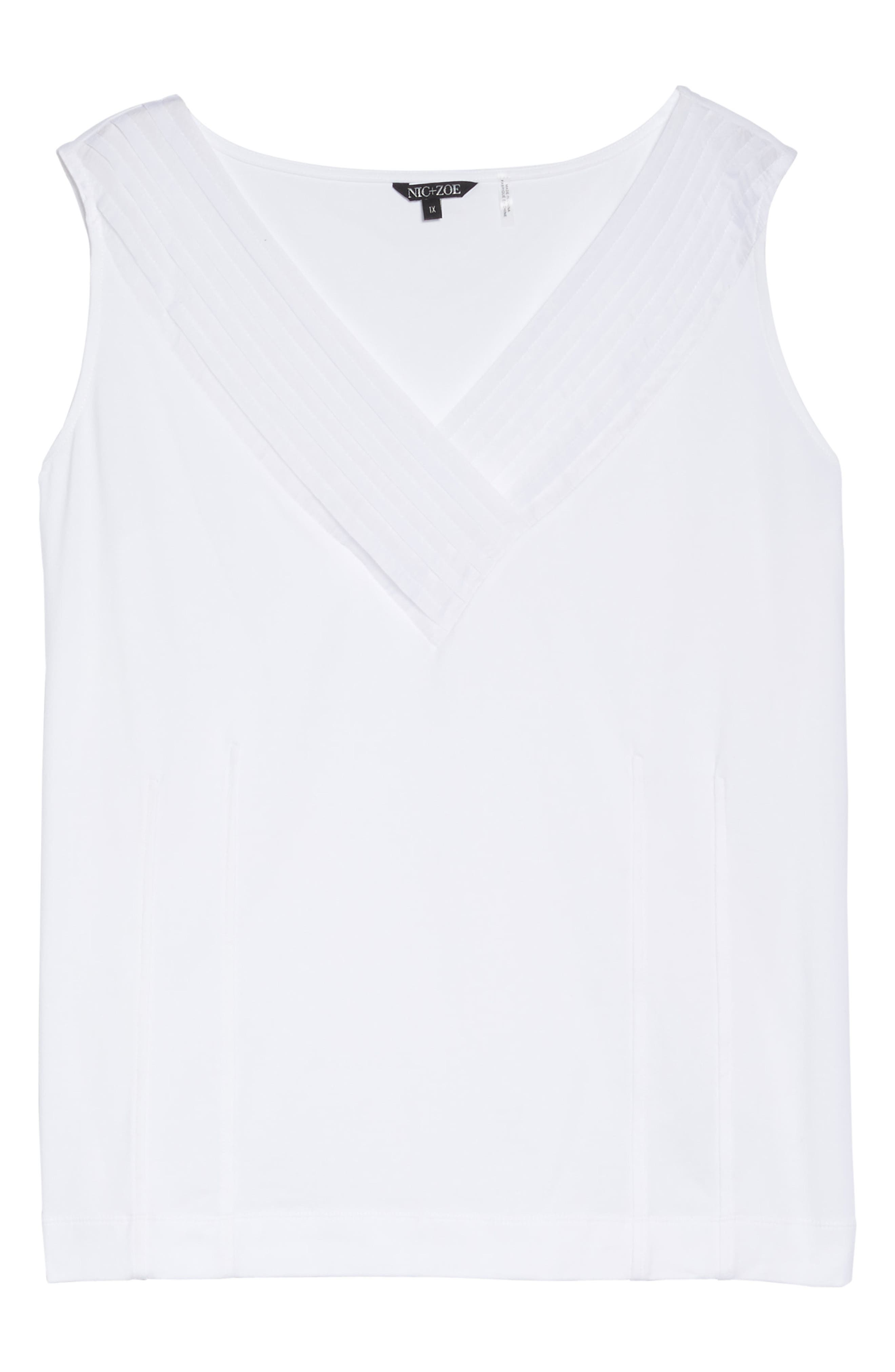 'Sweet Pleat' Sleeveless Top,                             Alternate thumbnail 6, color,                             123
