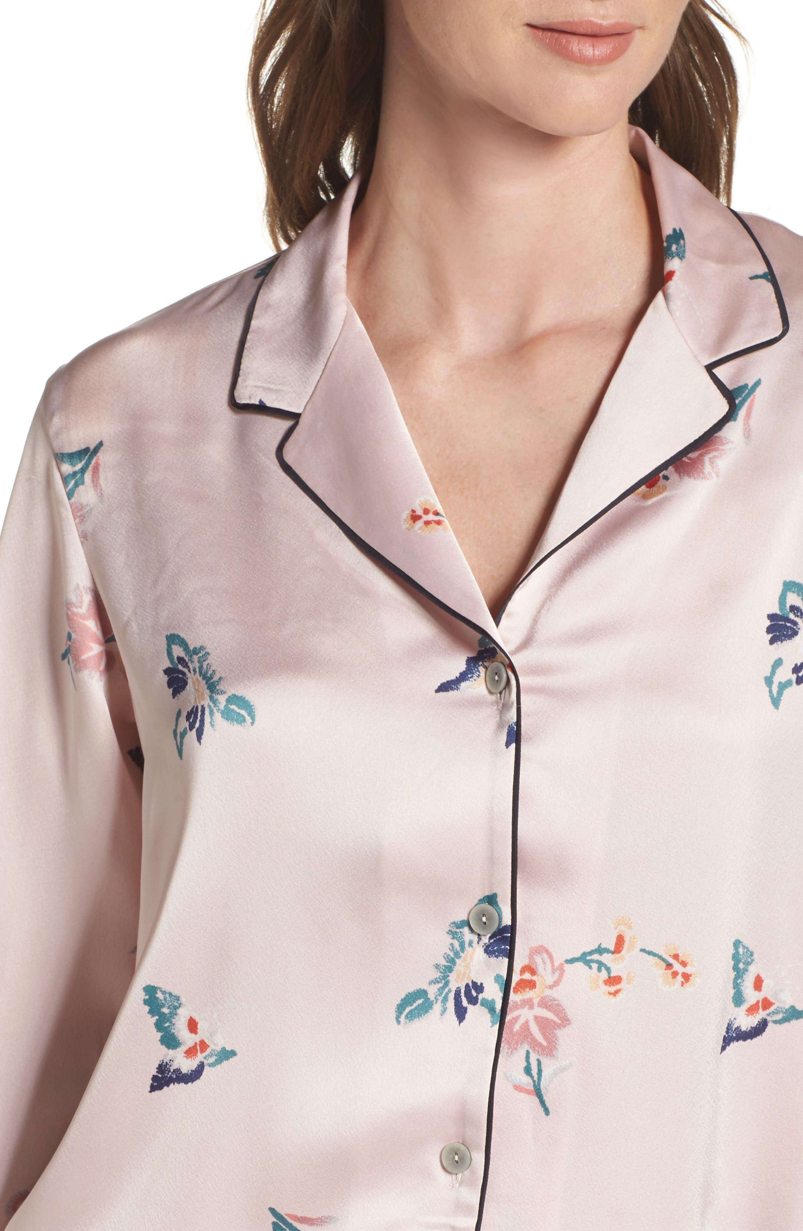 Papillon Print Short Pajamas,                             Alternate thumbnail 11, color,