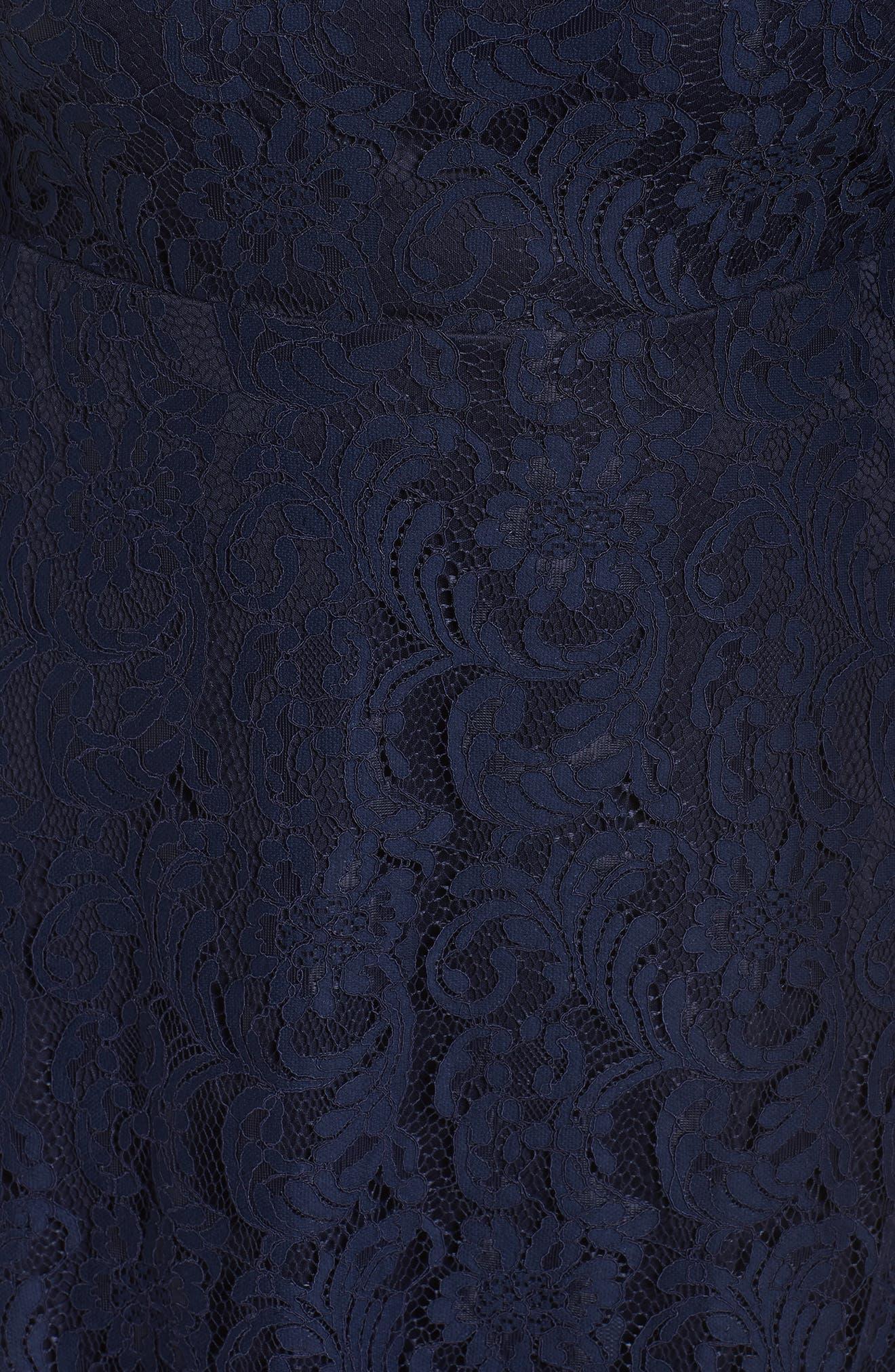 Fit & Flare Lace Dress,                             Alternate thumbnail 5, color,                             400