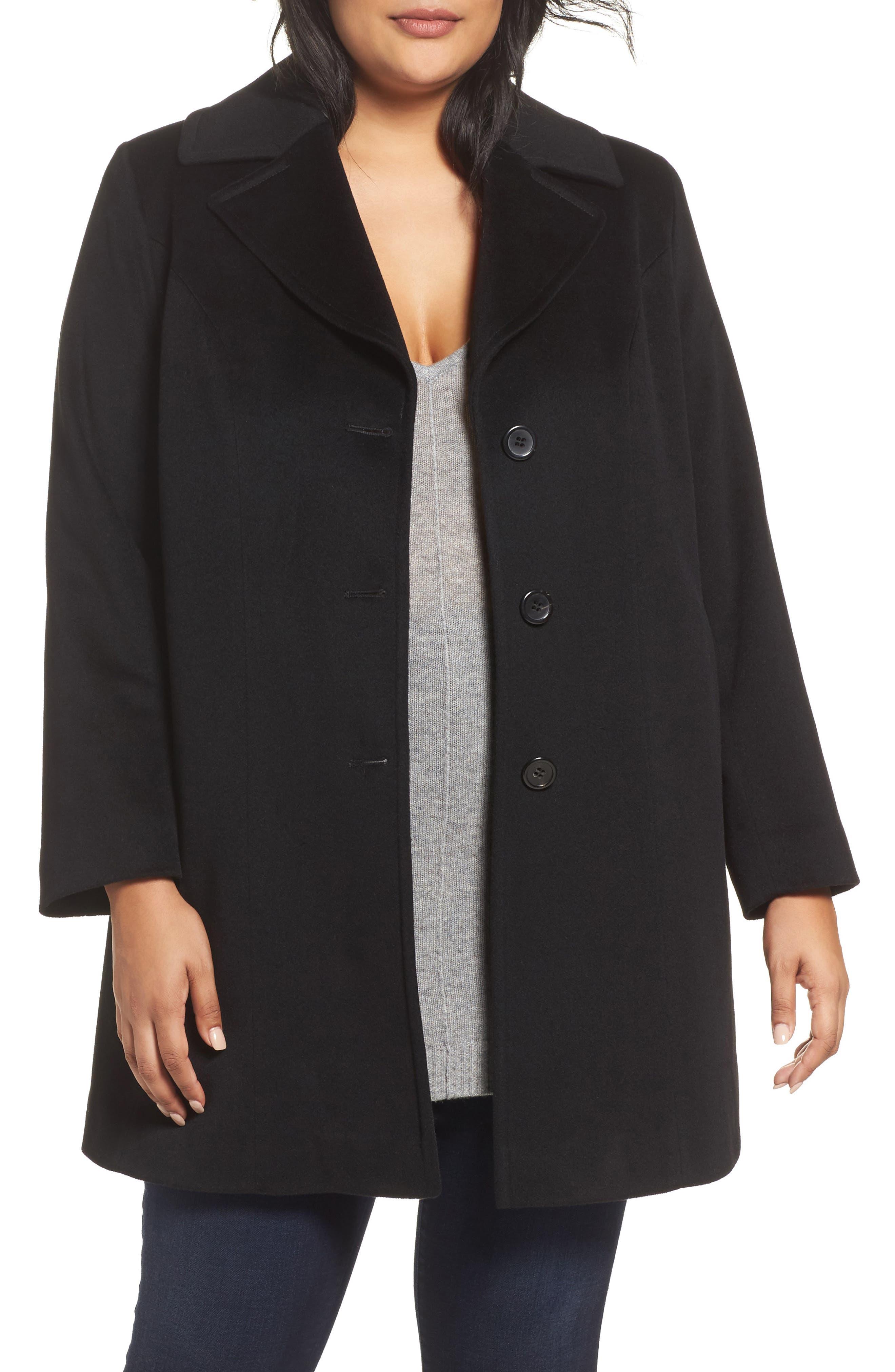 Wool Walking Coat,                         Main,                         color, 001