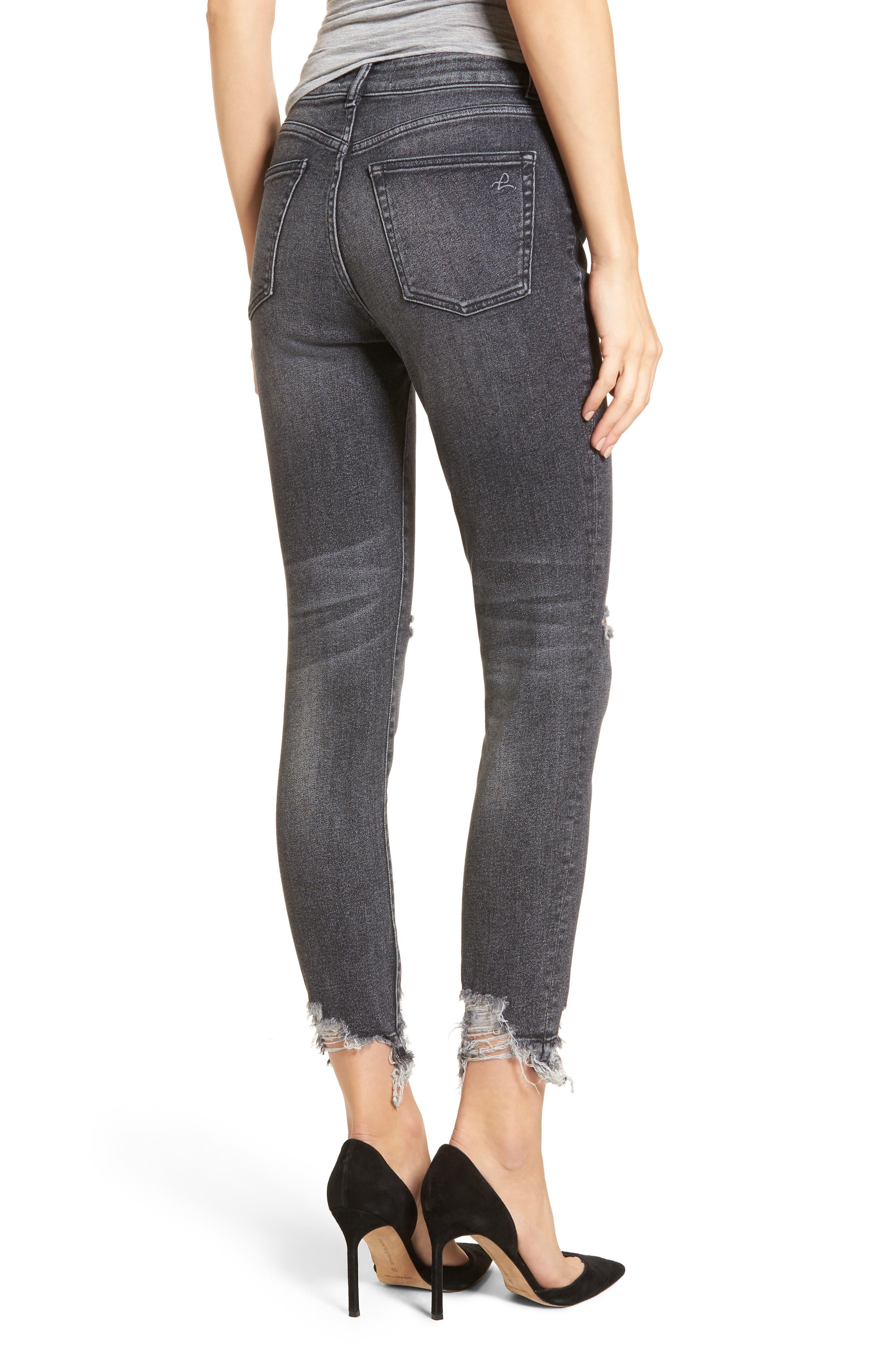 Farrow Ripped Ankle Jeans,                             Alternate thumbnail 2, color,                             LIGHT SMOKE