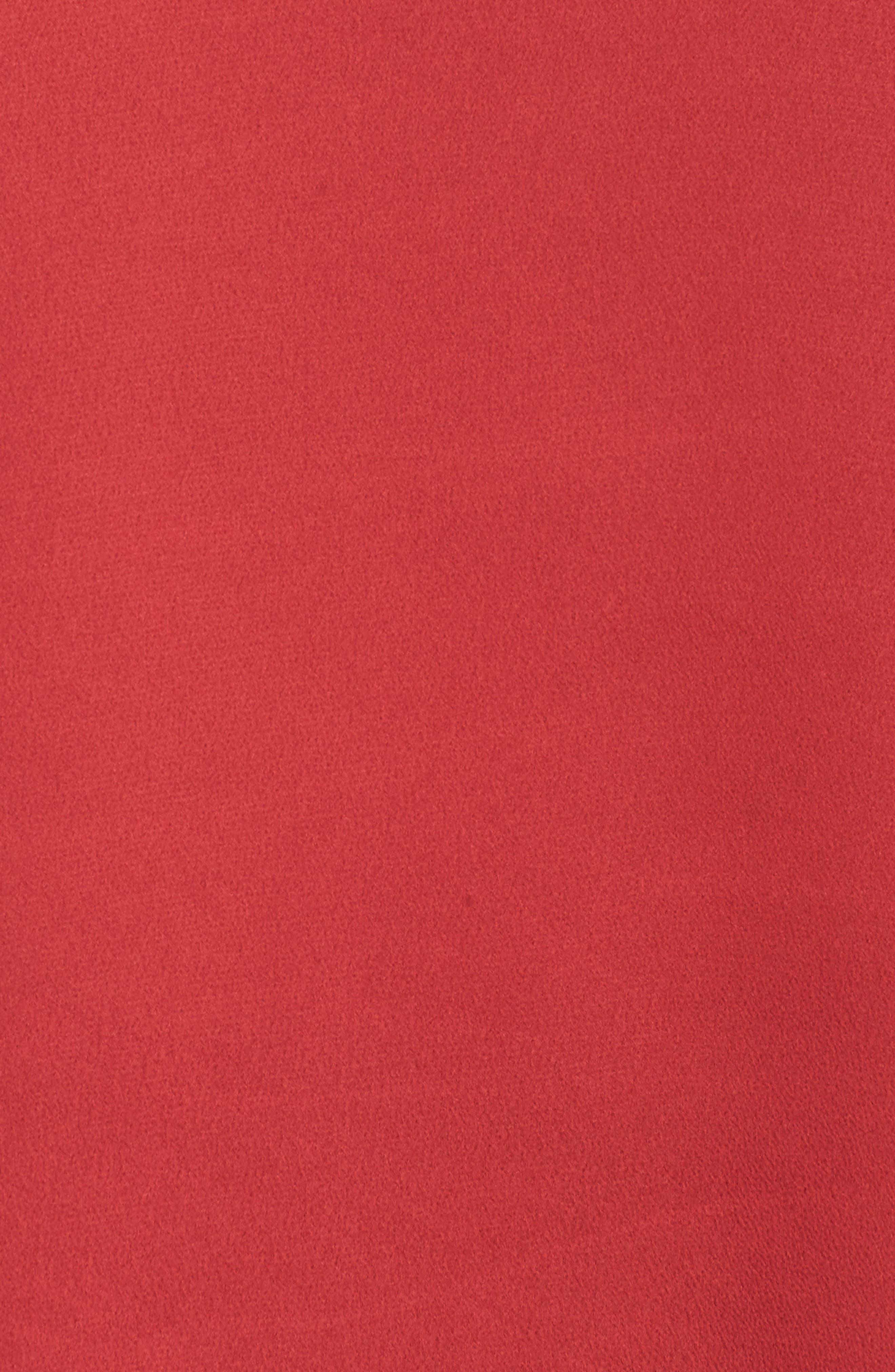 Ruffle Sleeve Blouse,                             Alternate thumbnail 5, color,                             CLARET
