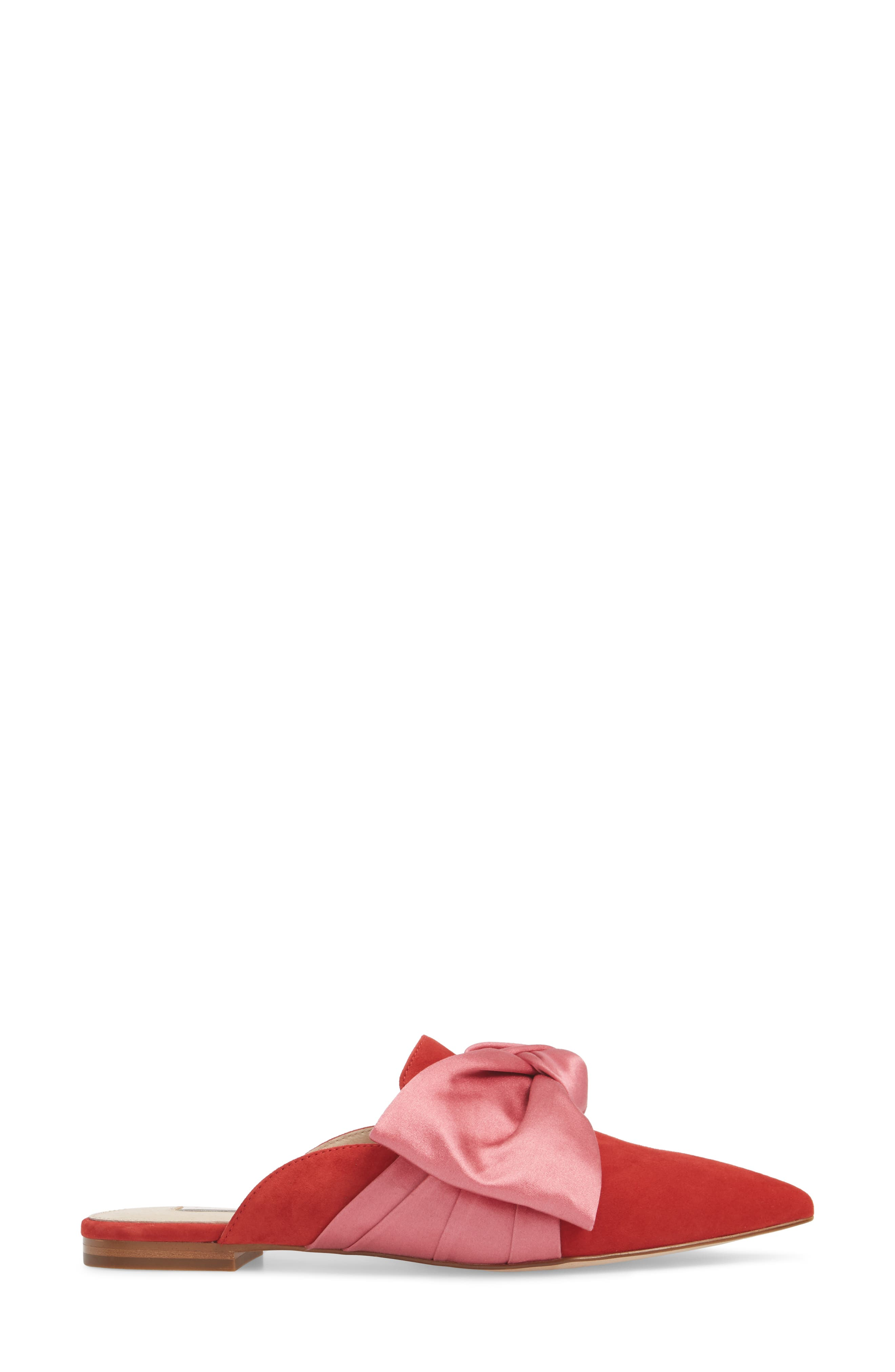 Cela Bow Mule,                             Alternate thumbnail 3, color,                             ACE MOXIE PINK SUEDE