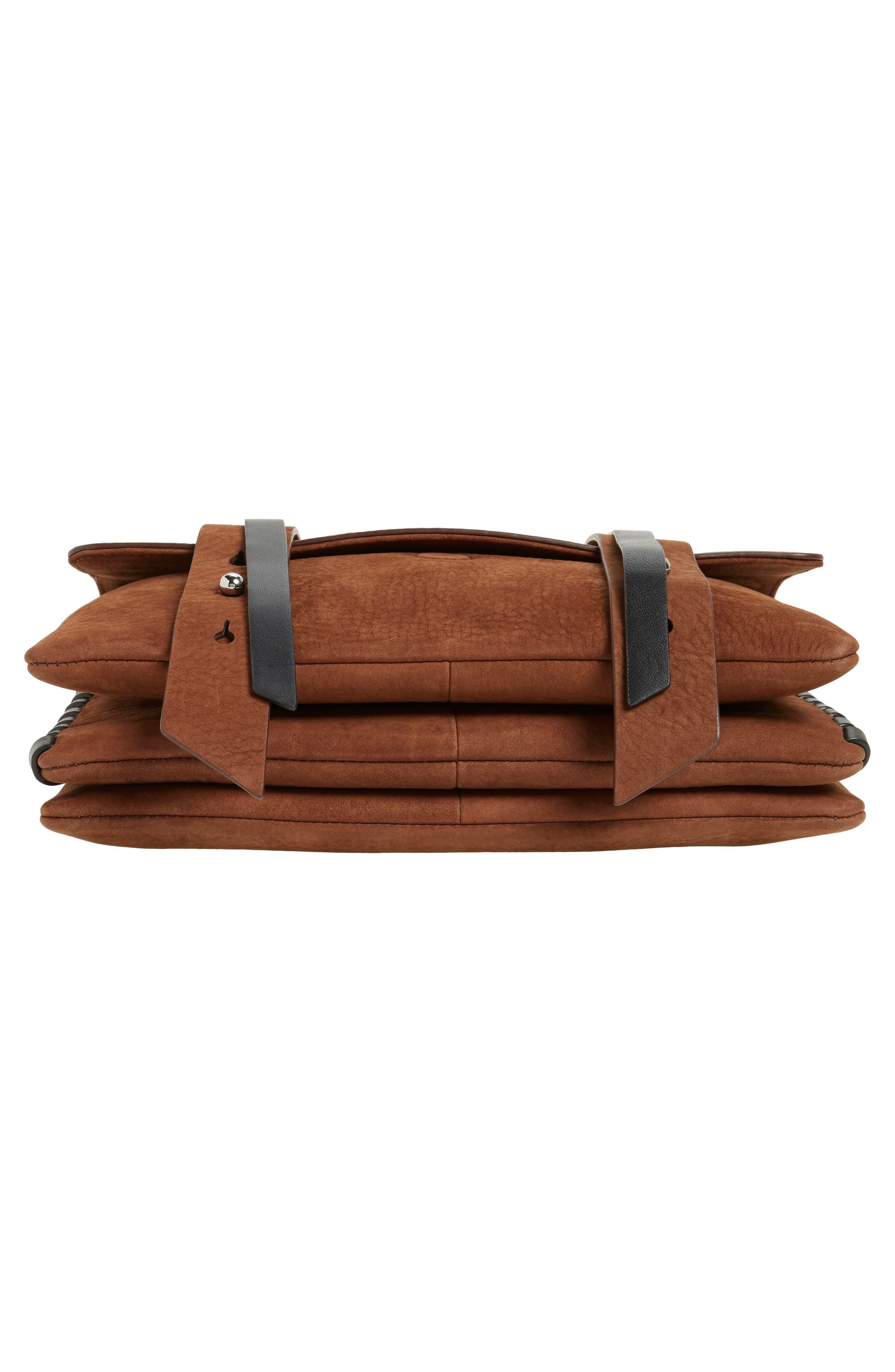Fin Leather Box Bag,                             Alternate thumbnail 6, color,                             200