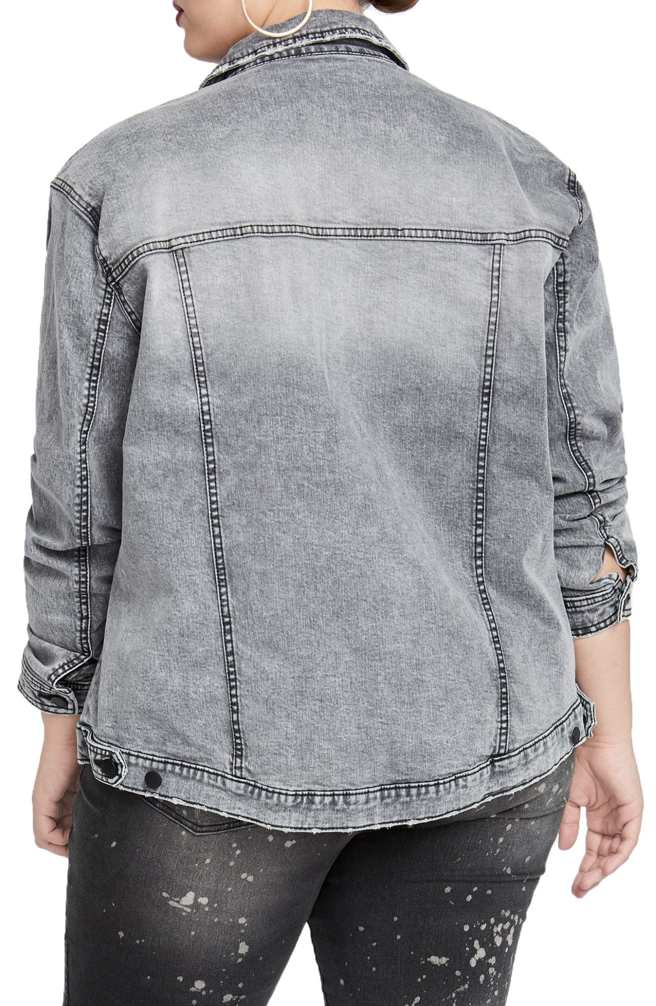 Oversize Denim Jacket,                             Alternate thumbnail 2, color,                             031