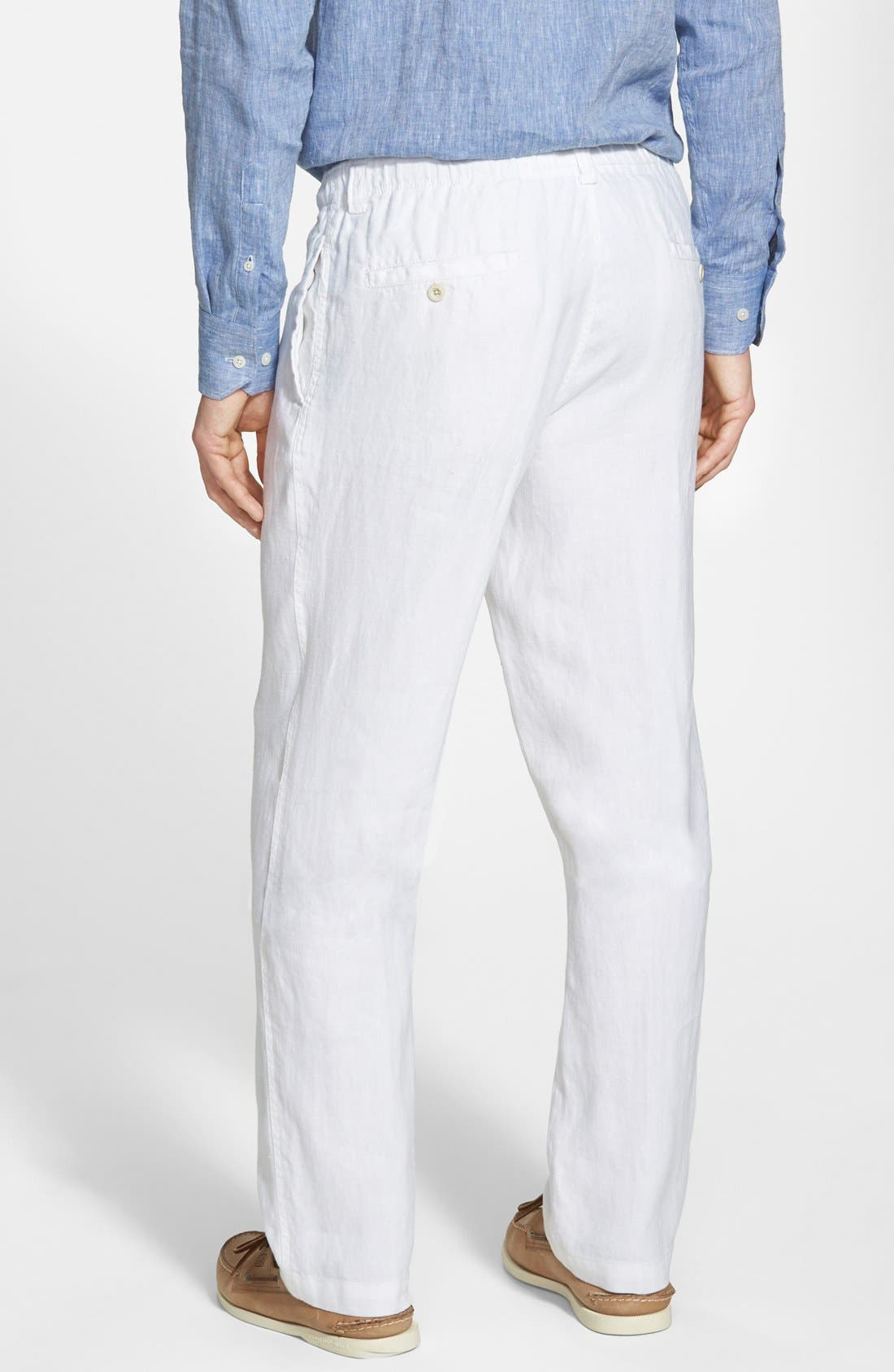 'New Linen on the Beach' Easy Fit Pants,                             Alternate thumbnail 2, color,                             100