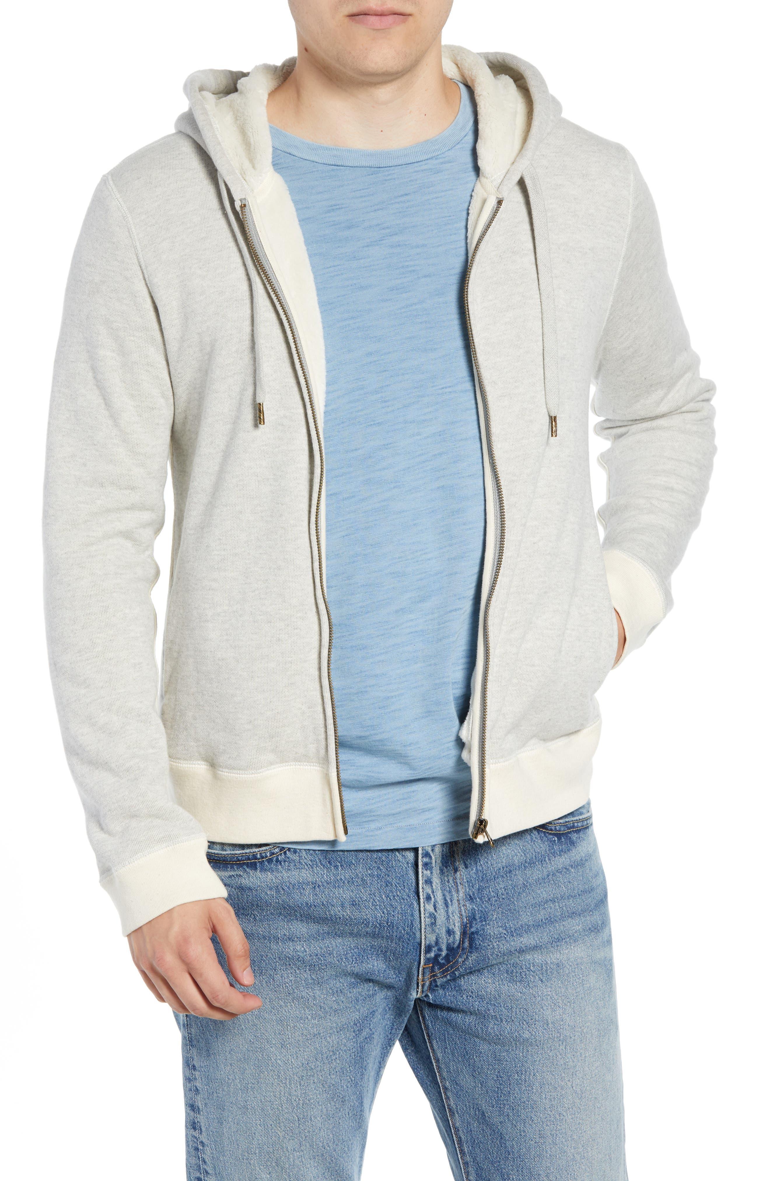 BILLY REID Panelled Fleece Zip Hoodie, Main, color, 032
