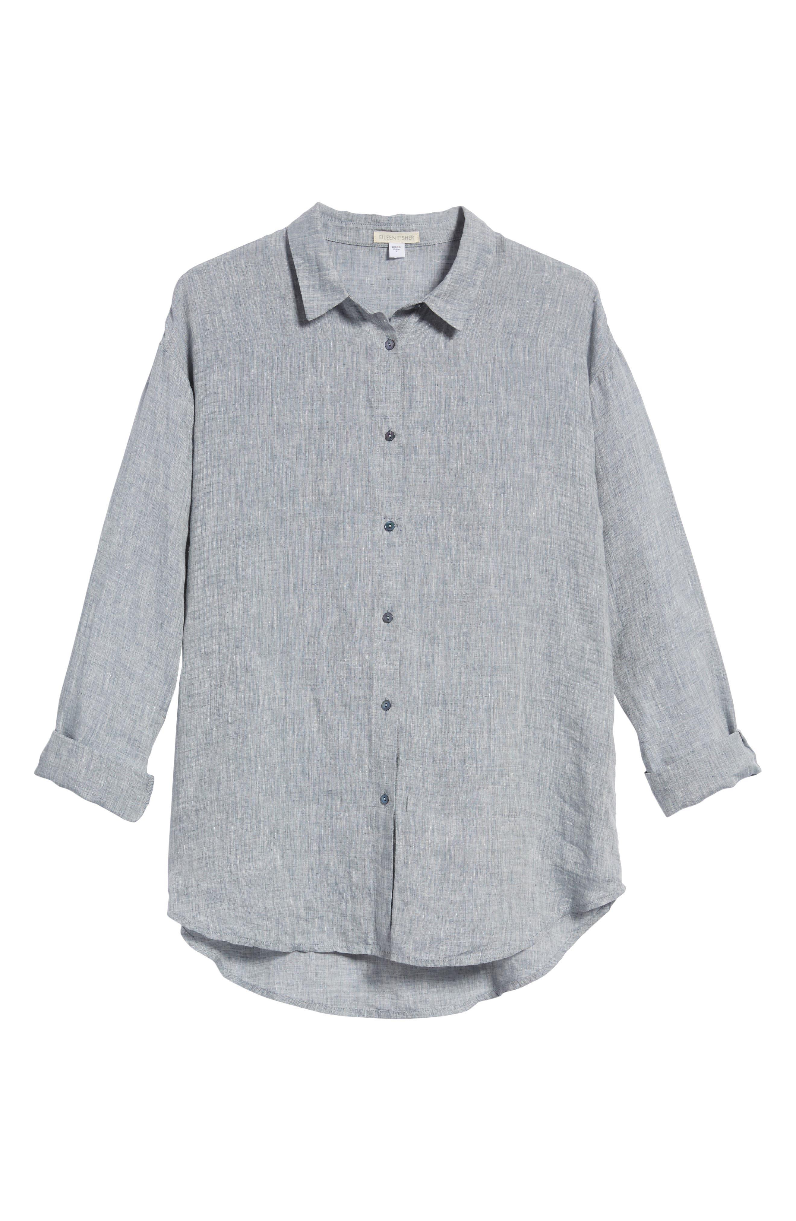 Organic Linen Shirt,                             Alternate thumbnail 13, color,