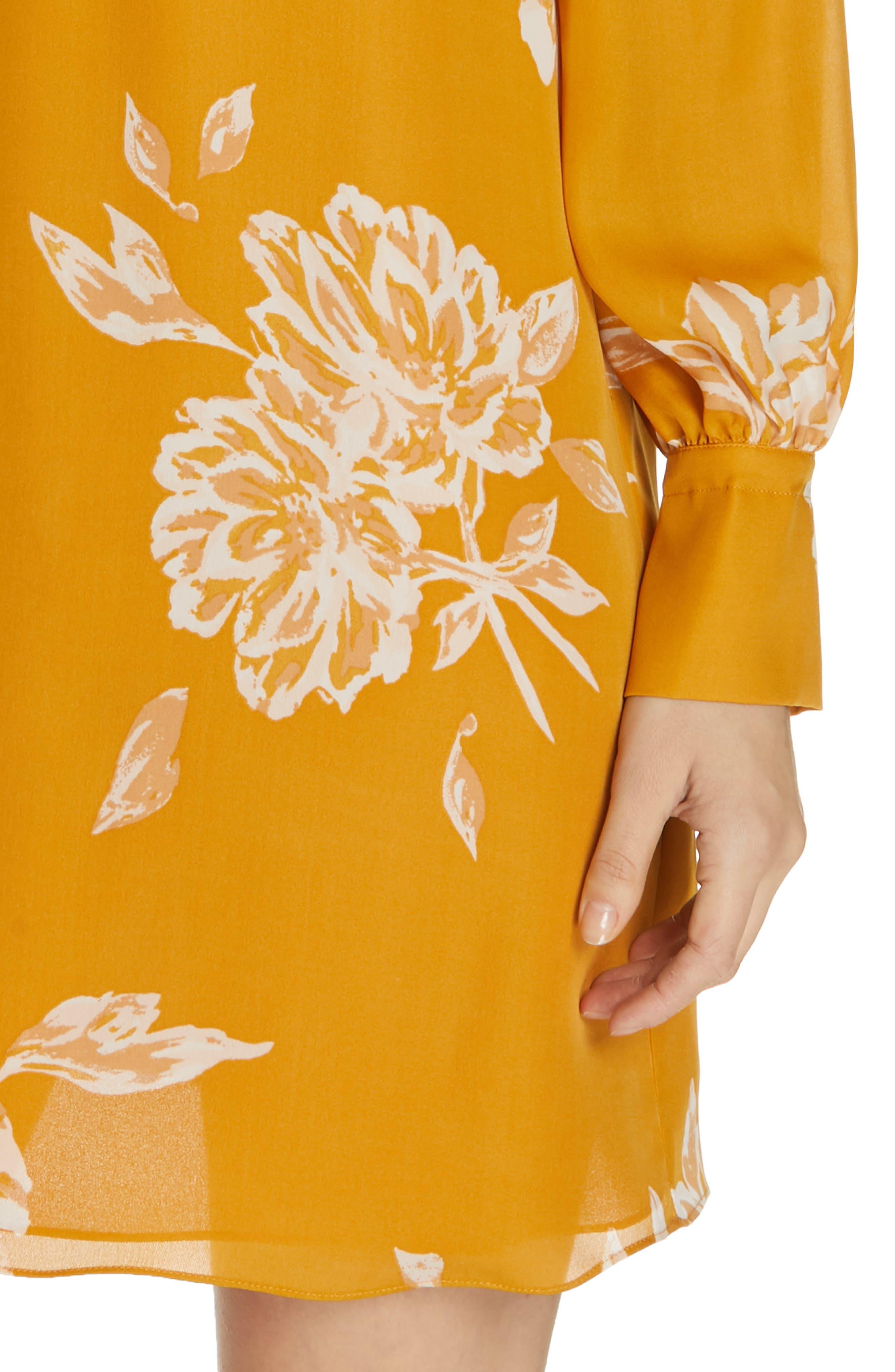 Amaranda Silk Shirtdress,                             Alternate thumbnail 4, color,                             DUSTY GOLD