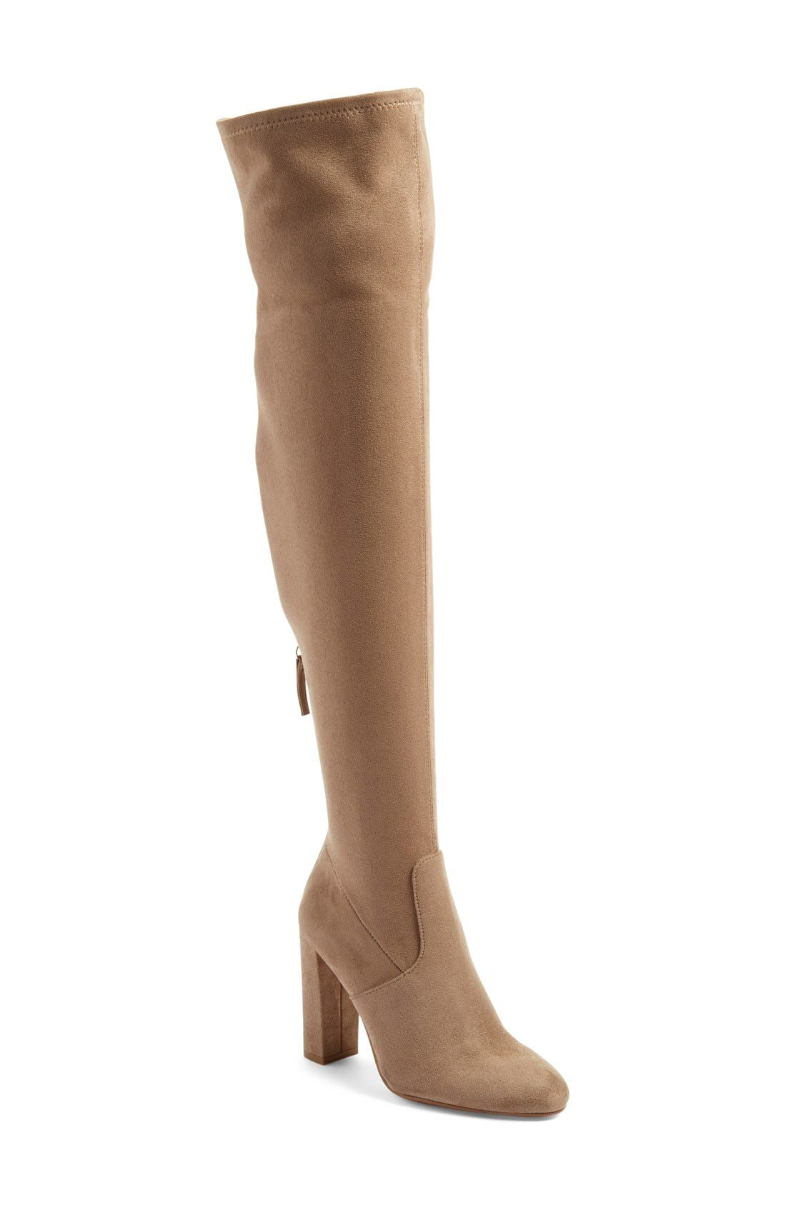 'Emotions' Stretch Over the Knee Boot,                             Main thumbnail 2, color,