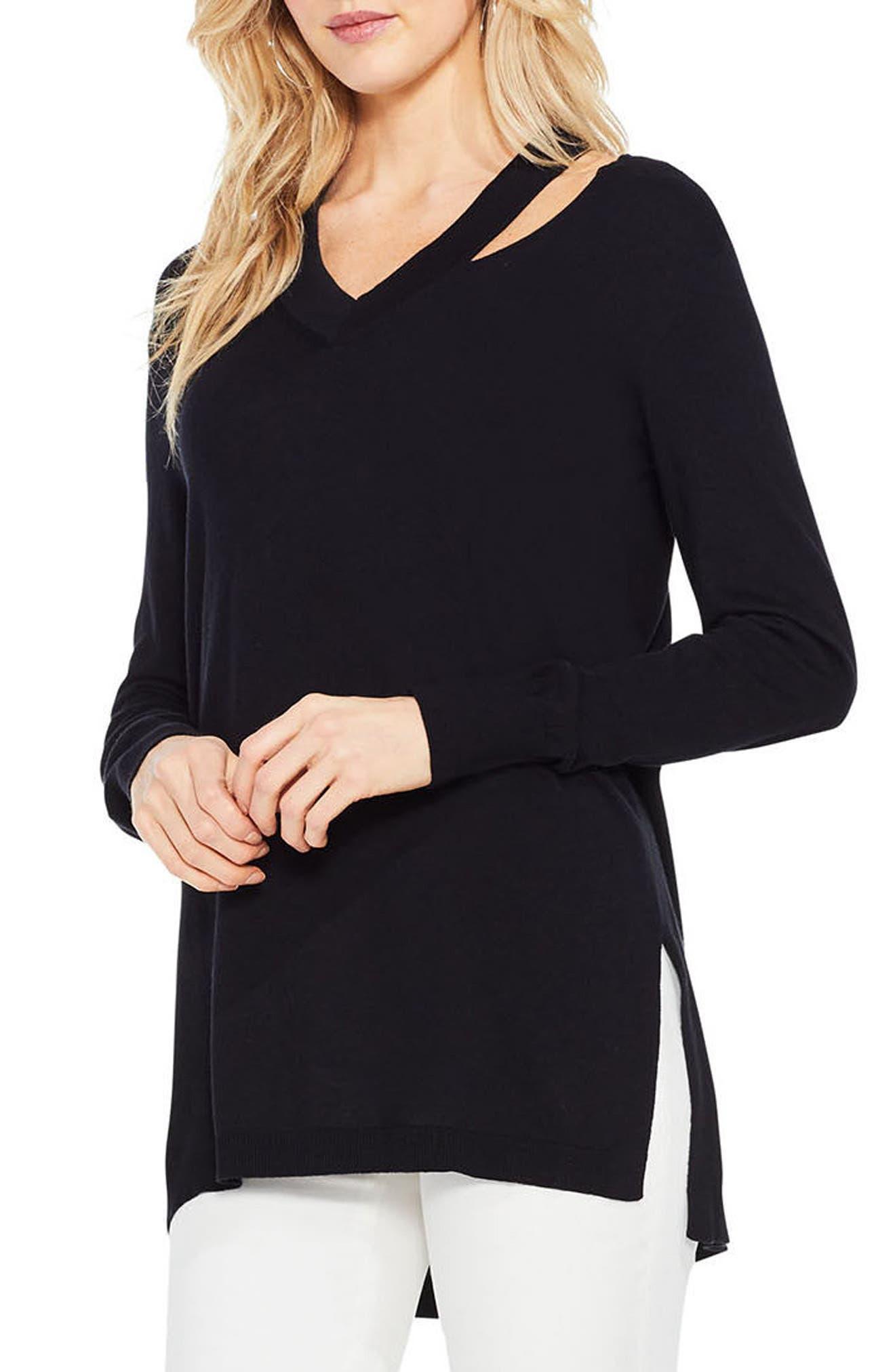 Cutout Neck Sweater,                         Main,                         color, 006